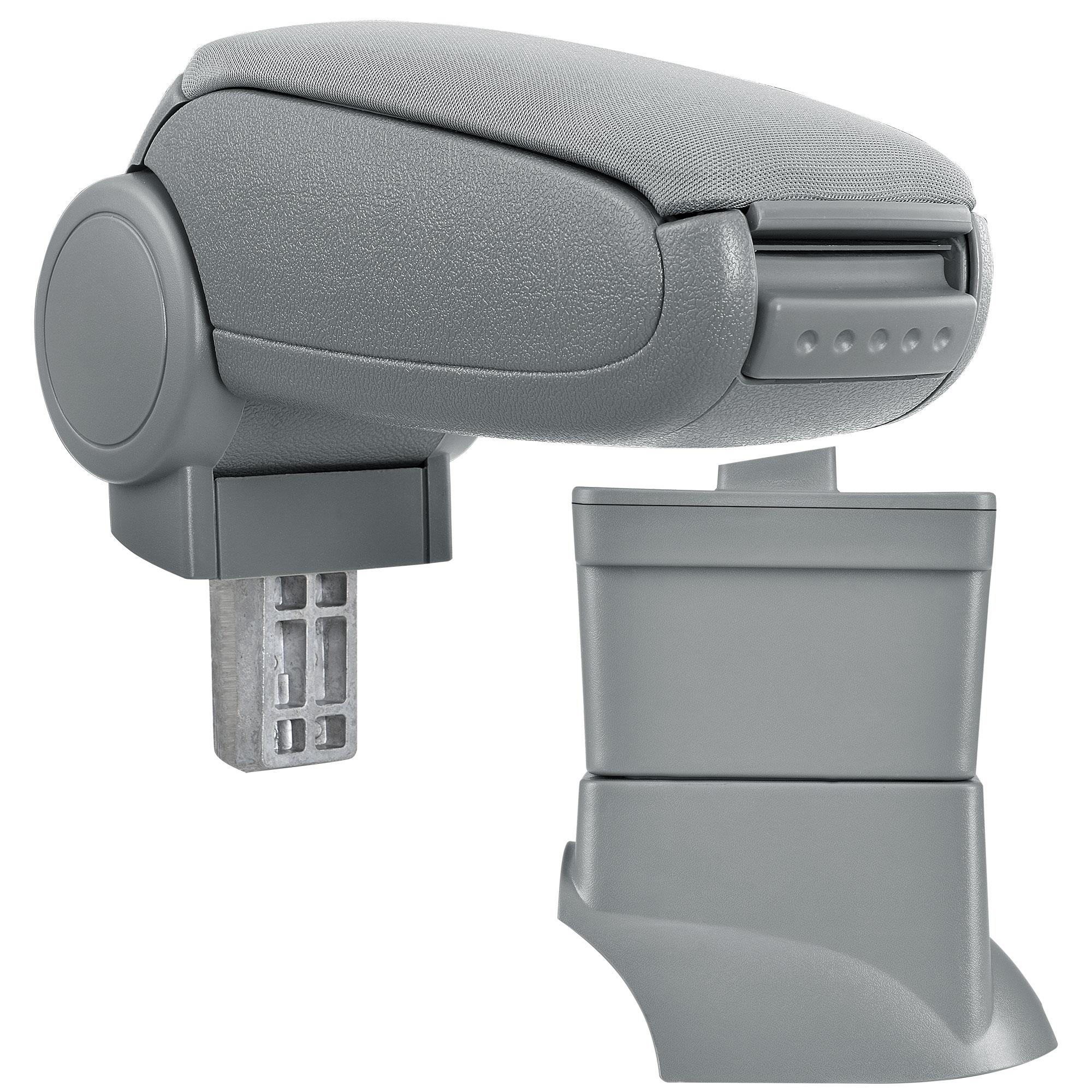 Středová loketní opěrka - vhodná pro: Fiat 500 (Rok výroby od 2007) - Látkový potah (plochá tkanina) - Šedá