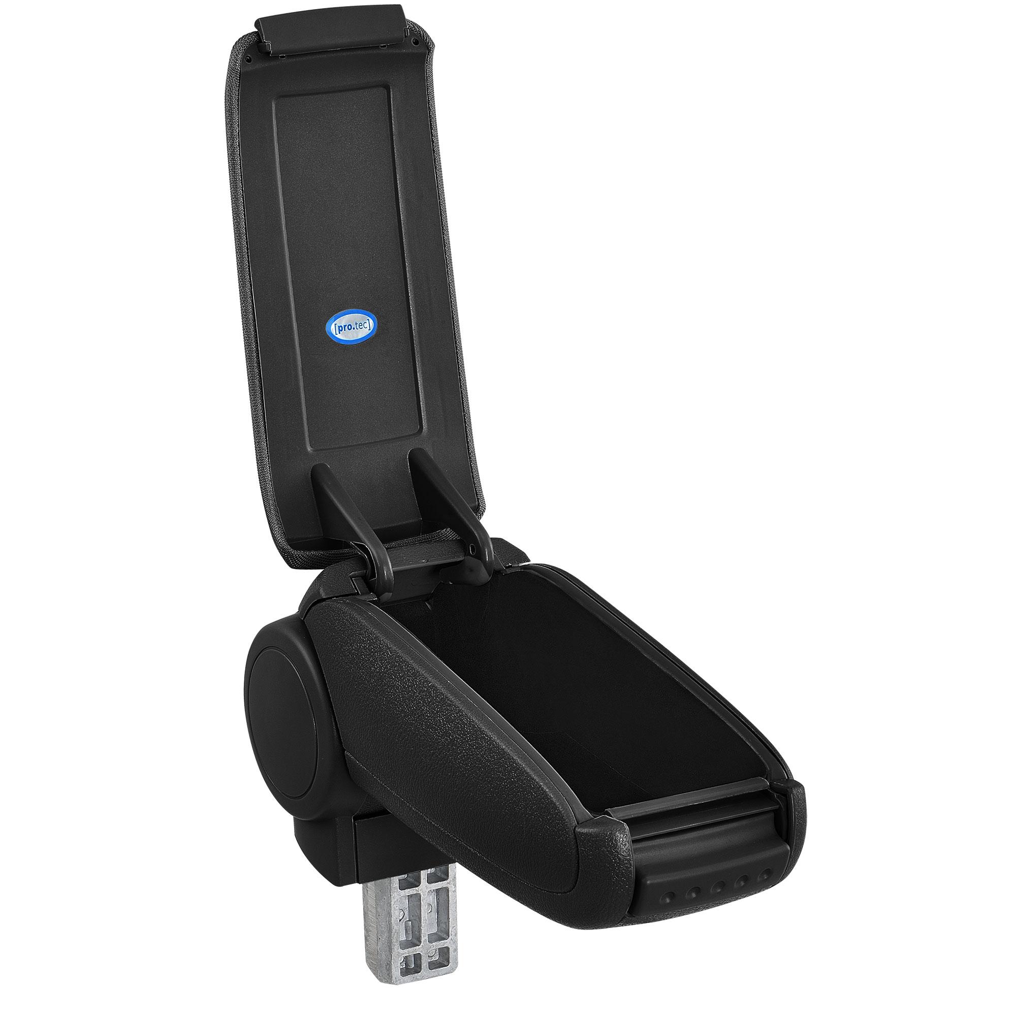 FAUX LEATHER BLACK ARMREST pro.tec ® FIAT 500 CUSTOM-FIT CENTRE ARMREST 2007