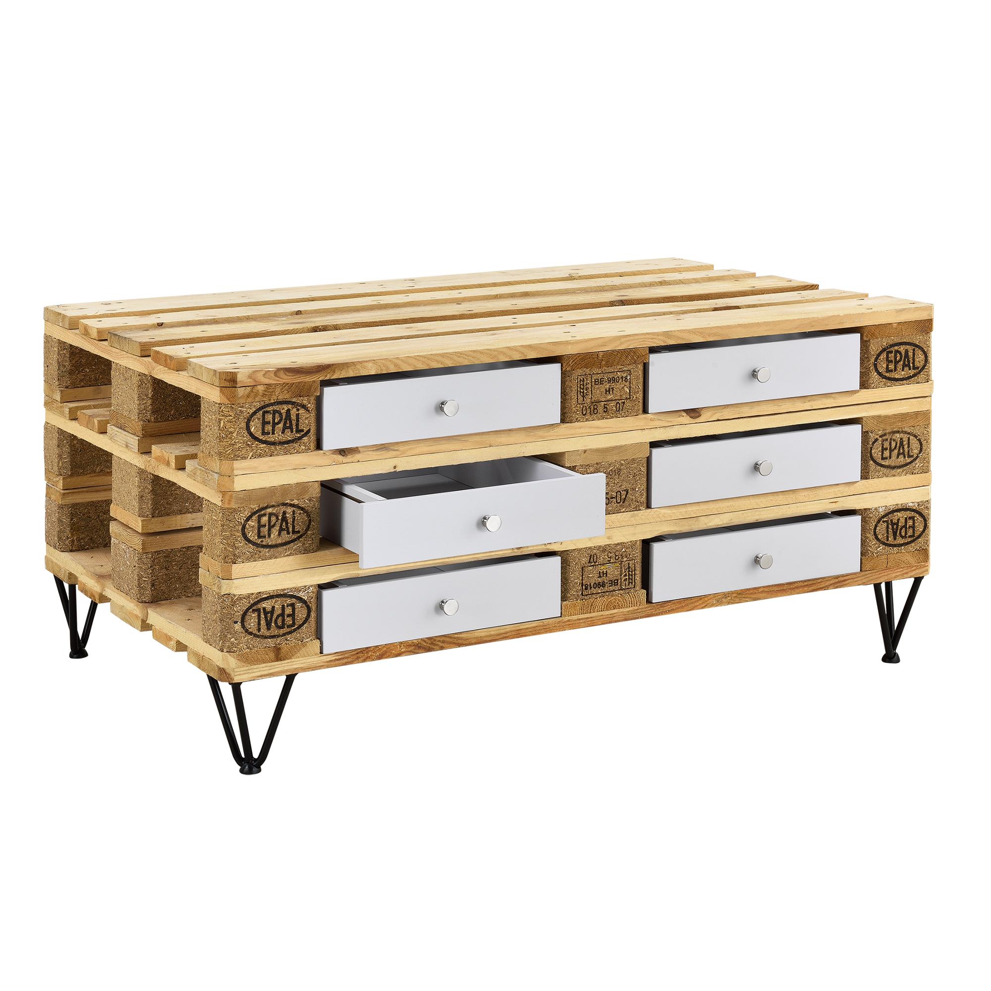 schublade f r europaletten regal kommode couchtisch paletten m bel diy ebay. Black Bedroom Furniture Sets. Home Design Ideas