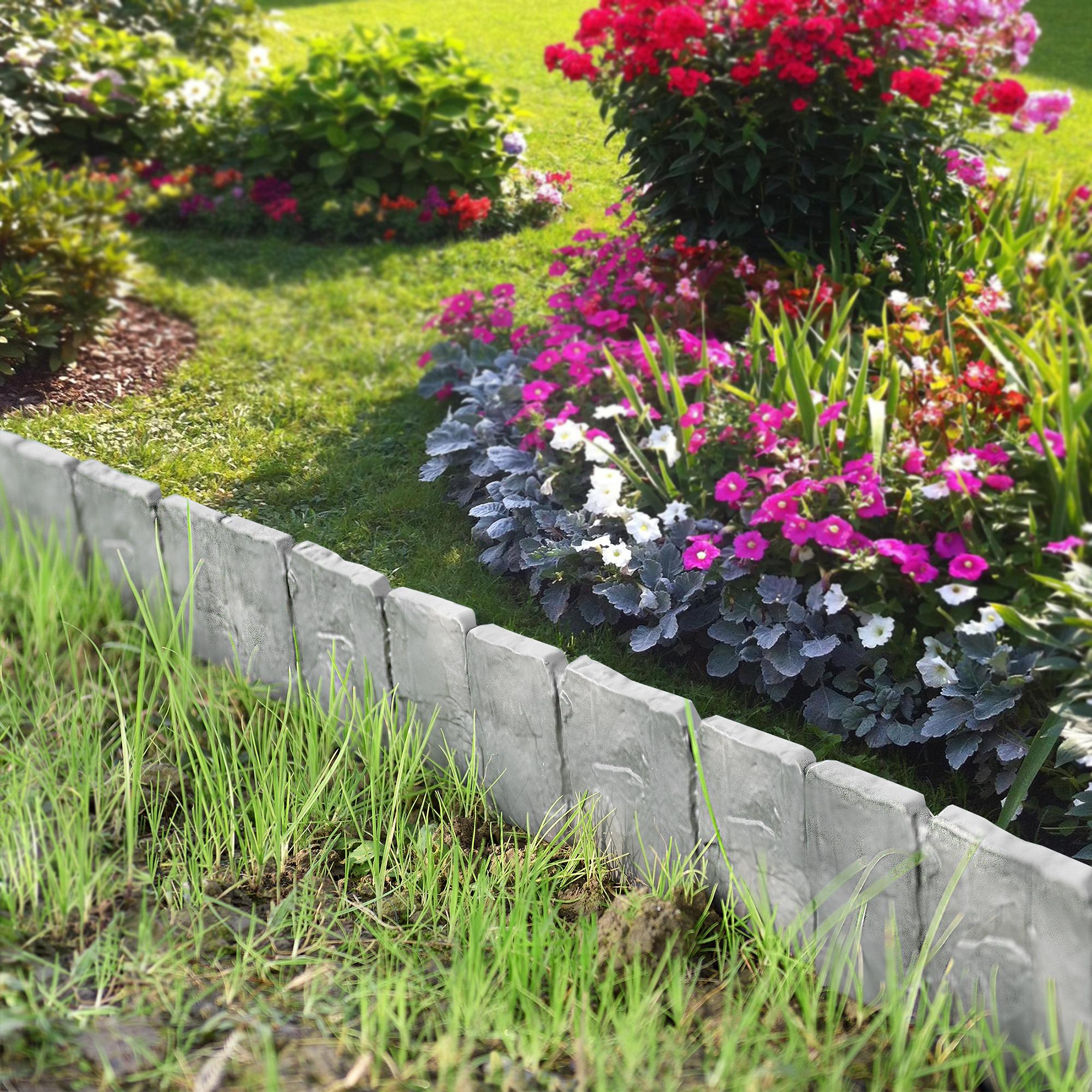 Piante Da Bordura Giardino dettagli su [casa.pro]® palizzate 20m recinto recinzione giardino piante  ottica pietra