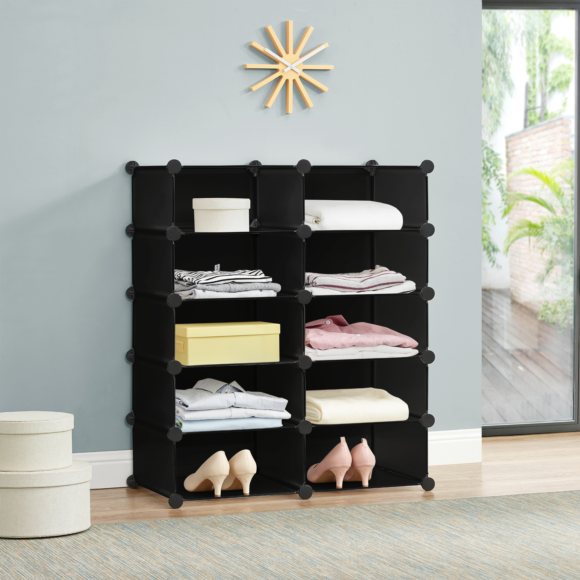 system regal schrank 90x73cm garderobe steck. Black Bedroom Furniture Sets. Home Design Ideas