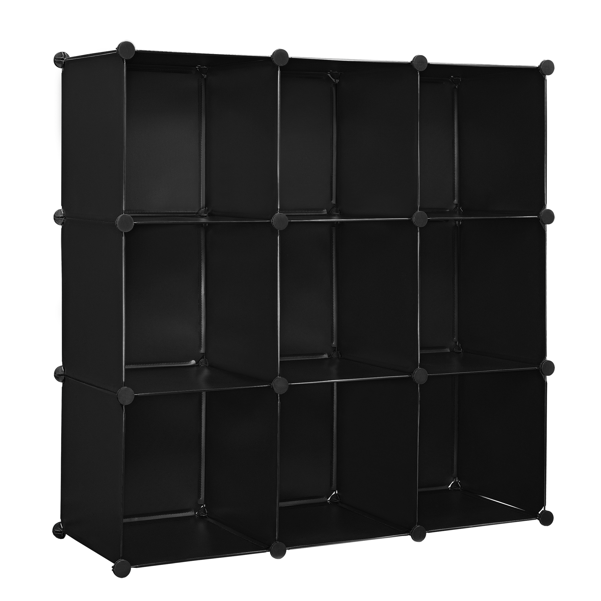 diy system regal schrank 110x110cm schwarz. Black Bedroom Furniture Sets. Home Design Ideas