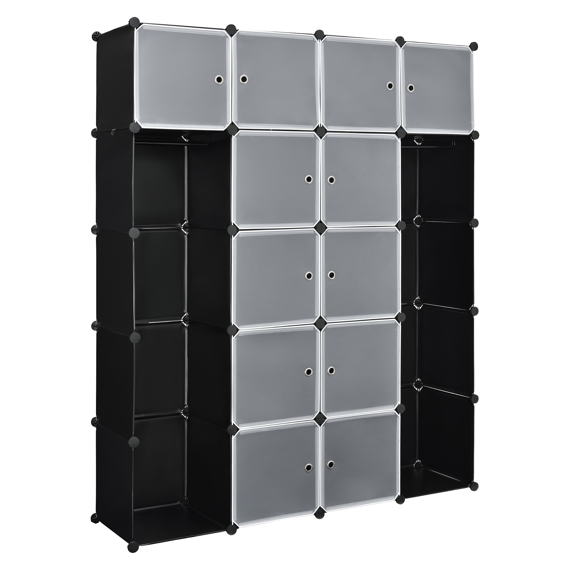 system regal schrank t ren 190x150cm schwarz. Black Bedroom Furniture Sets. Home Design Ideas