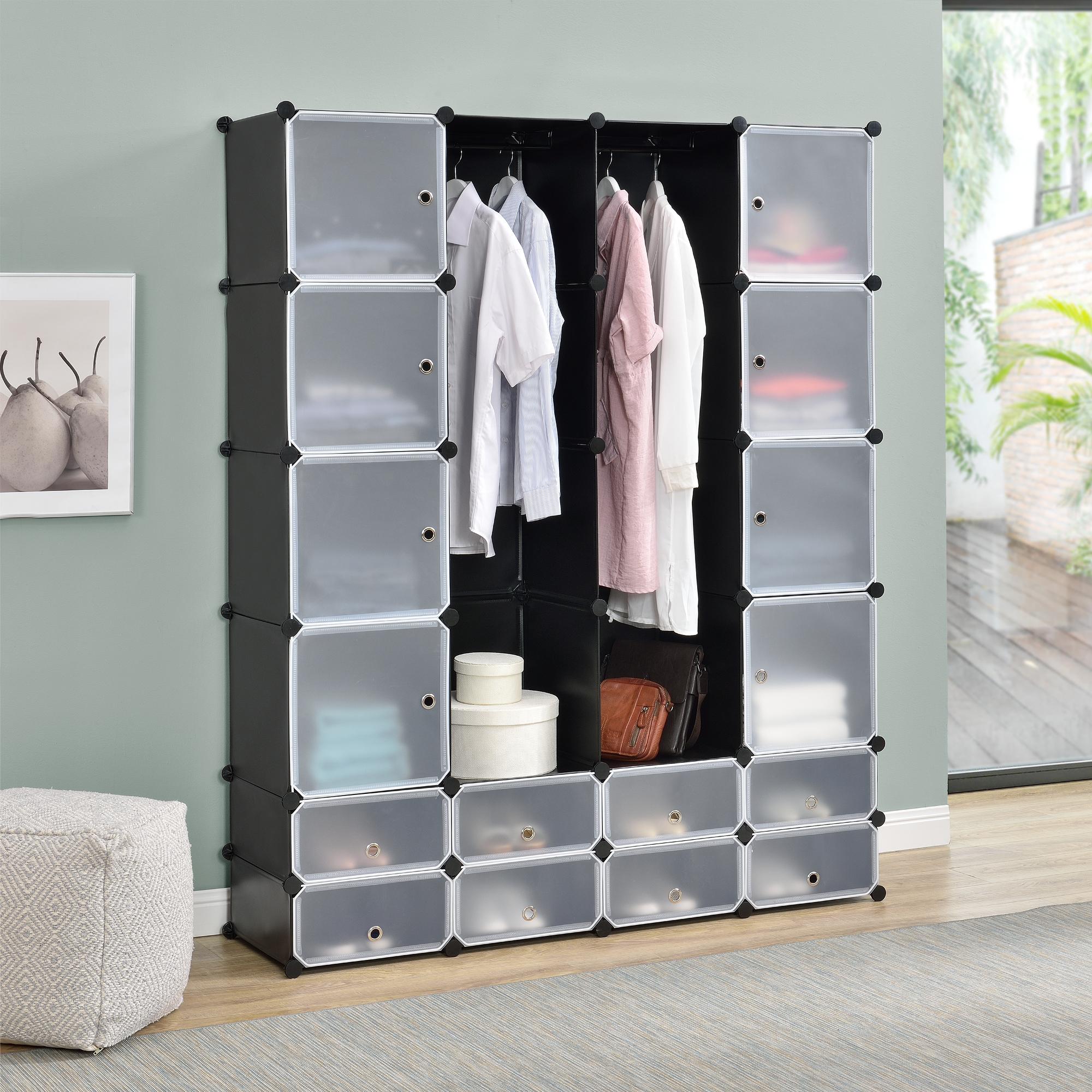 systemregal diy kleiderschrank t ren f cher. Black Bedroom Furniture Sets. Home Design Ideas