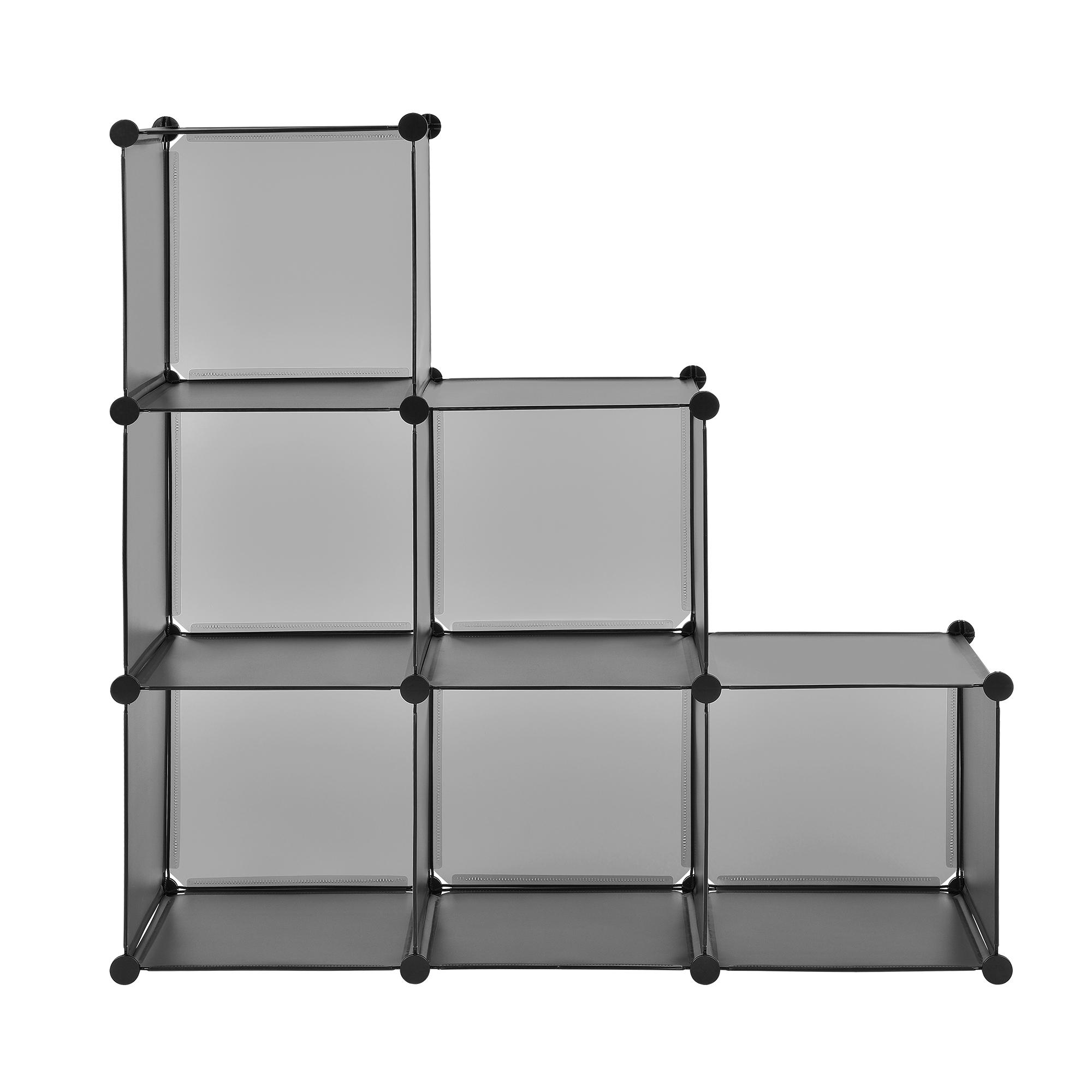 neu haus diy system regal schrank 110x110cm garderobe steck bad kleider wand. Black Bedroom Furniture Sets. Home Design Ideas