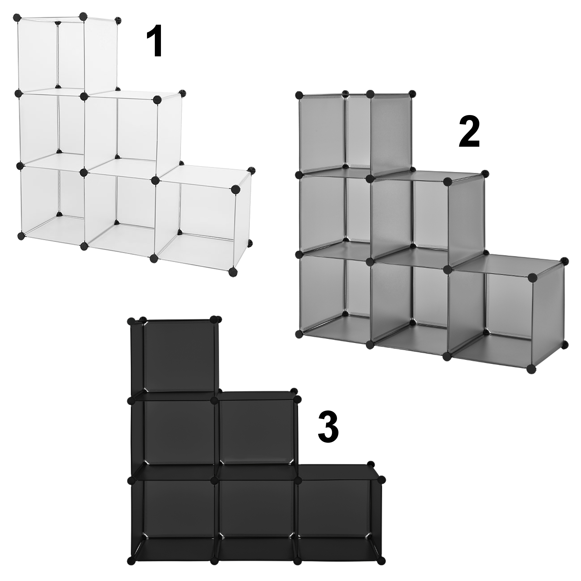 diy system regal schrank 110x110cm garderobe steck bad kleider wand ebay. Black Bedroom Furniture Sets. Home Design Ideas