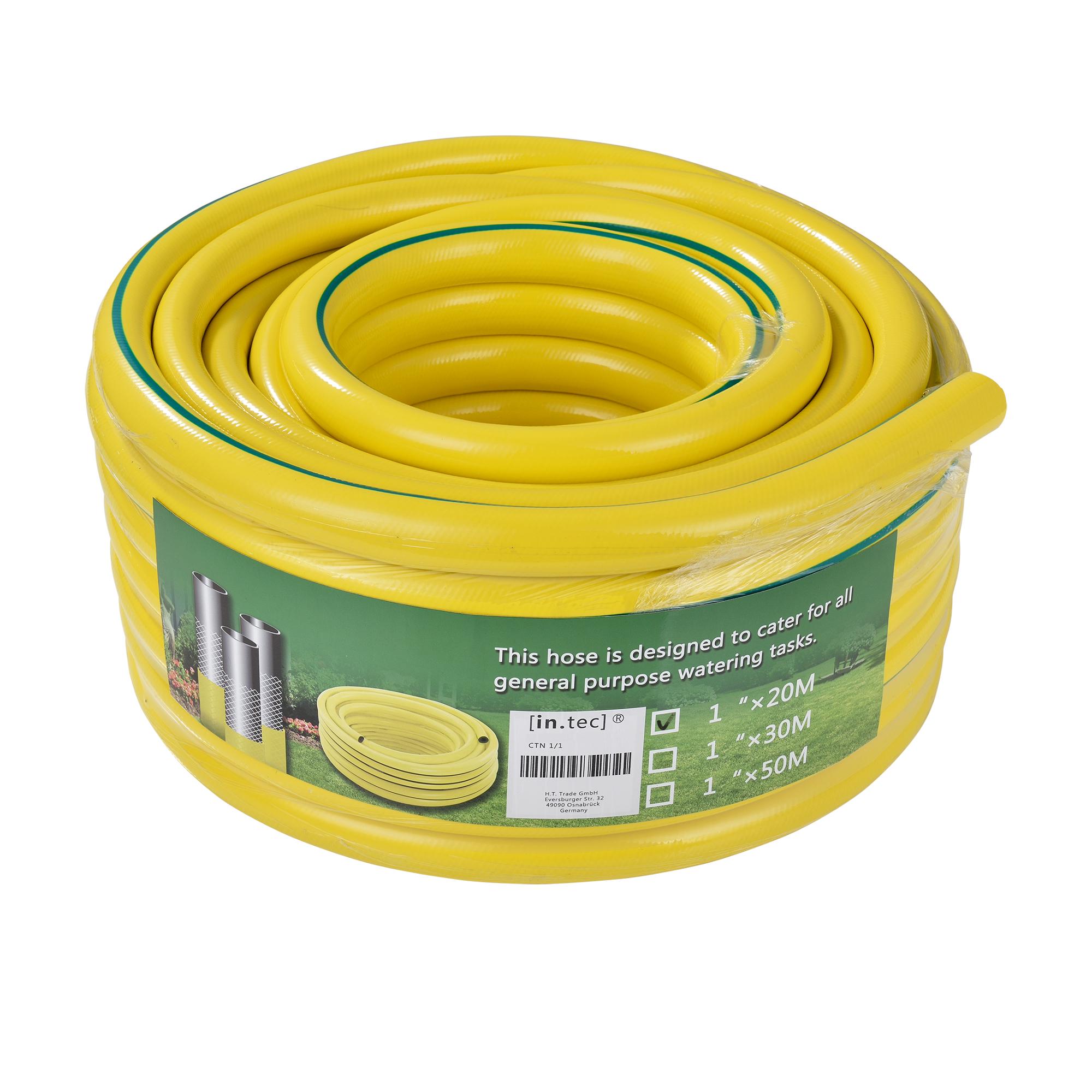 [in.tec]® zahradní hadice / kropicí hadice ,žlutá zelená proužek, 20 m