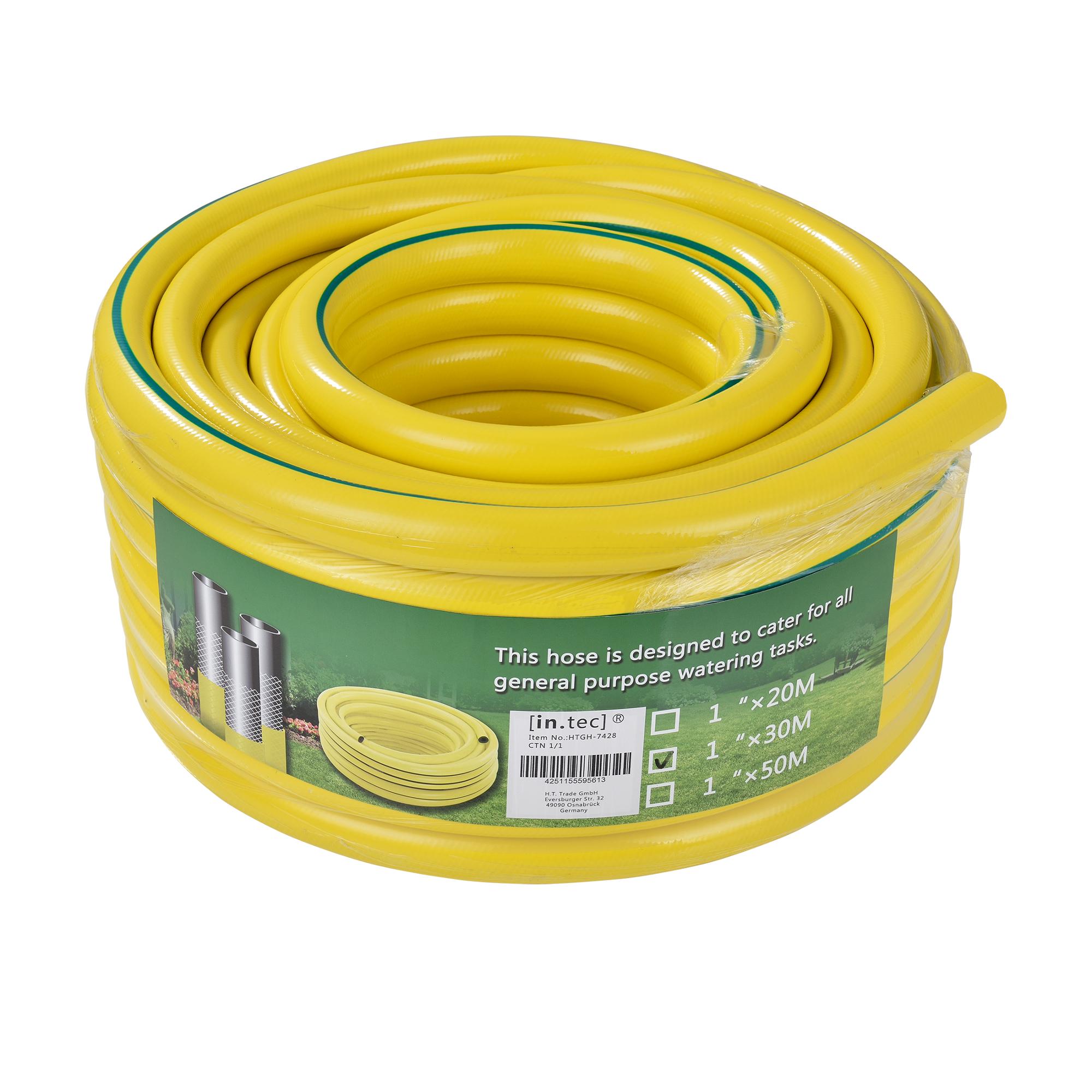[in.tec]® zahradní hadice / kropicí hadice,žlutá zelená proužek,30 m