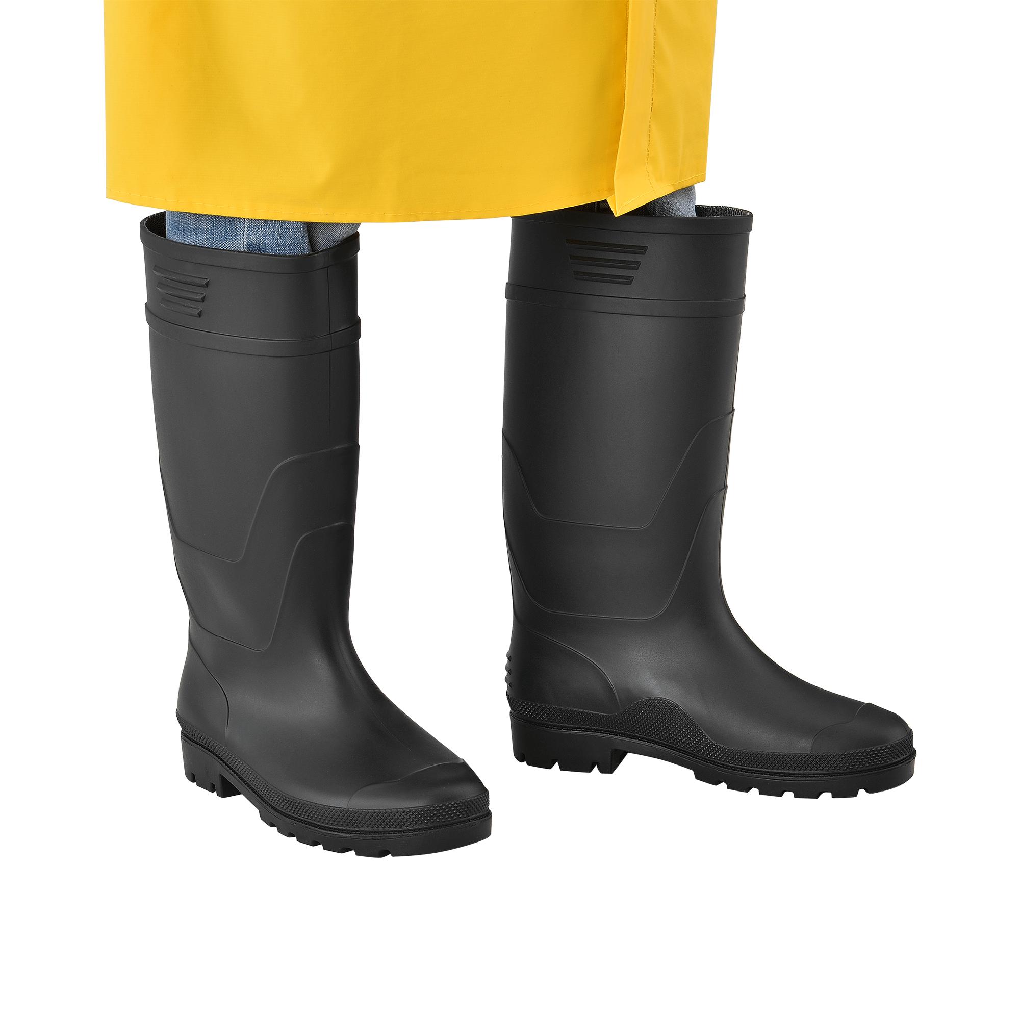 Gummistiefel Anglerstiefel Regenstiefel Stiefel PVC Schwarz Gr 46