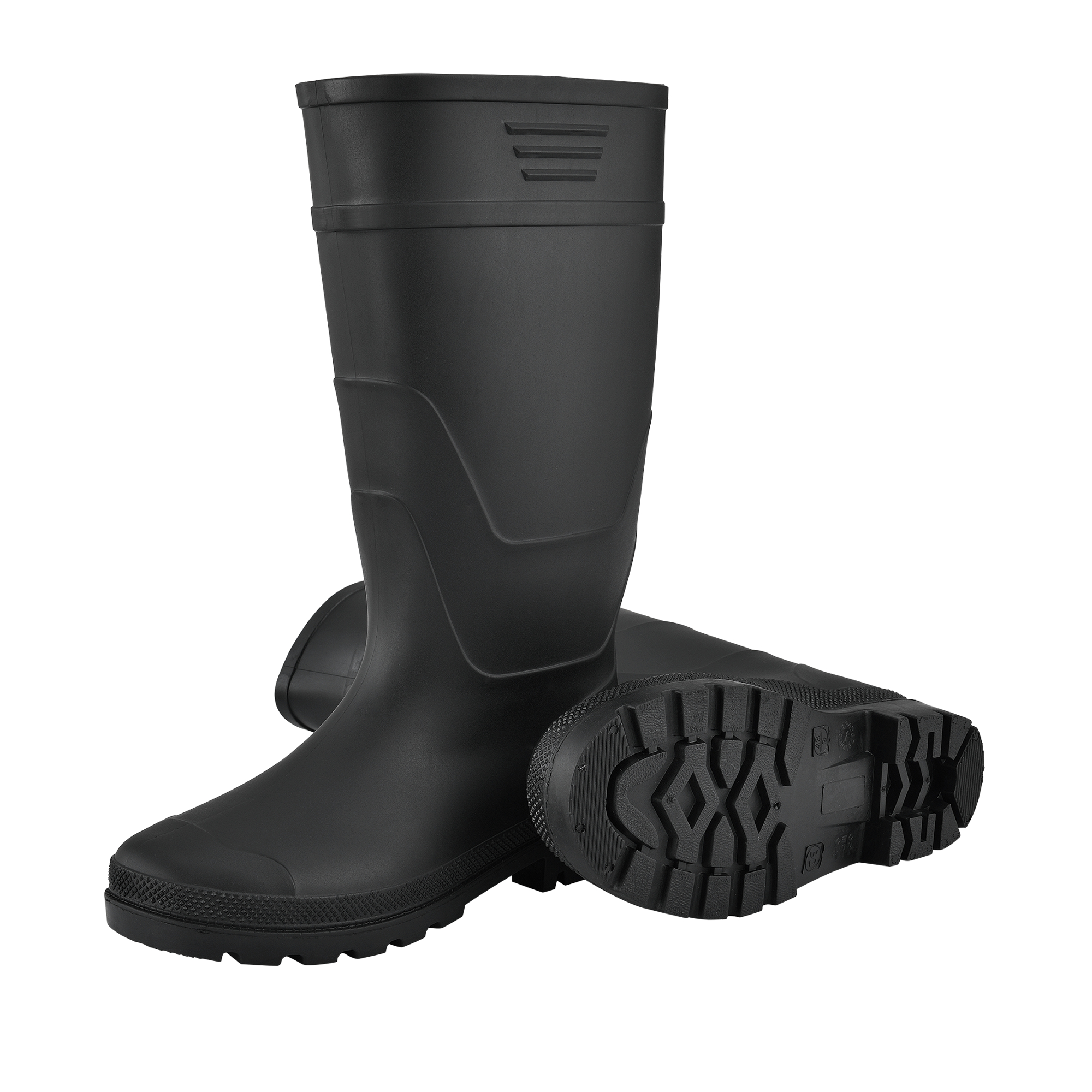 46 Gummistiefel Anglerstiefel Regenstiefel Stiefel PVC Schwarz Gr