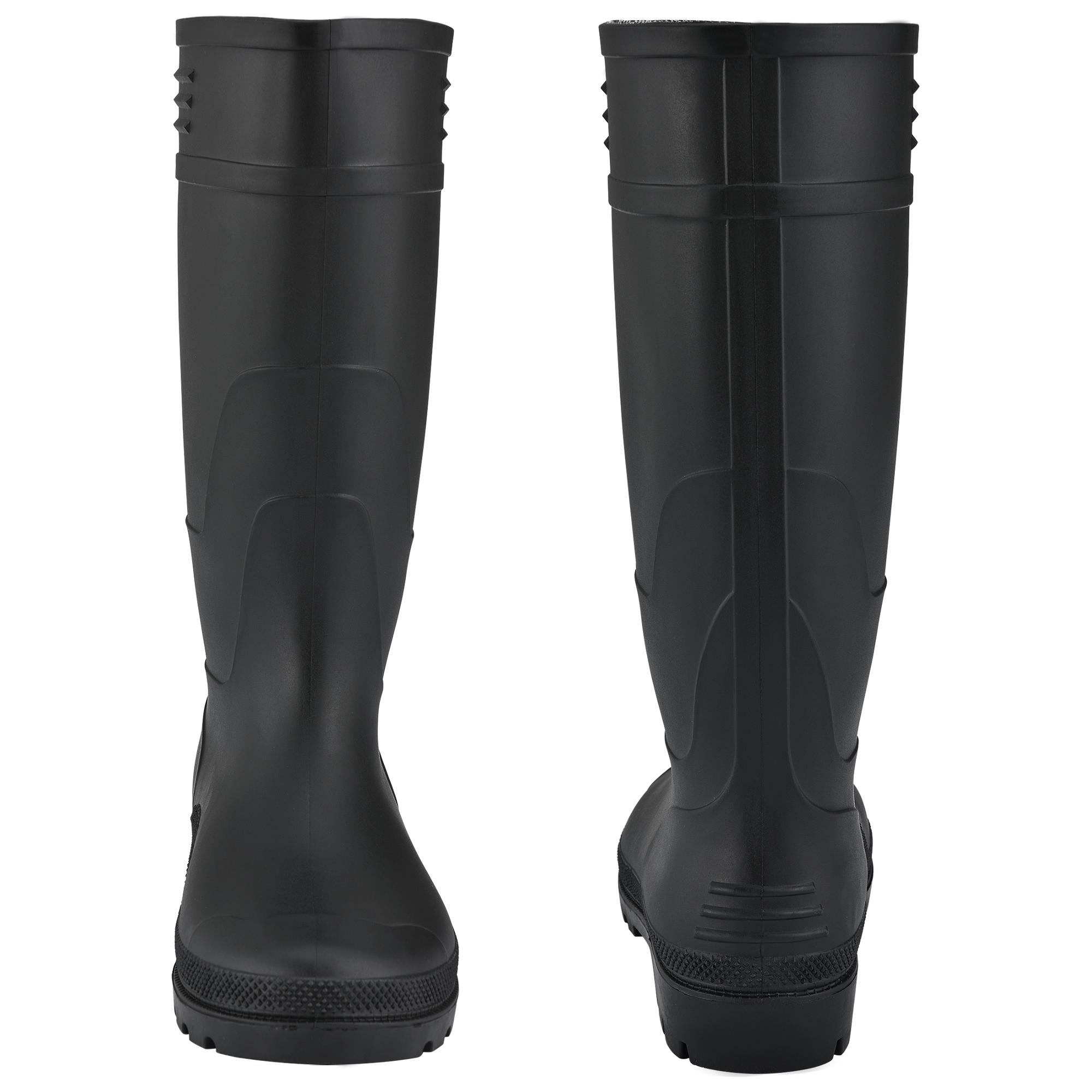 PRO Tec ® Bottes En Caoutchouc Bottes Angler Pluie Bottes PVC noir Taille 40