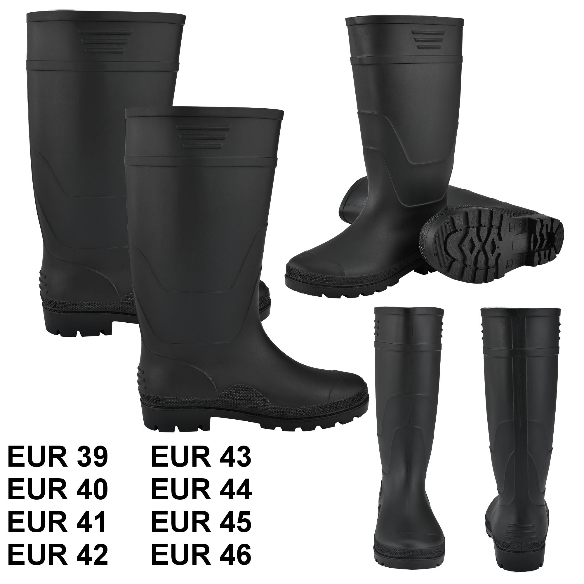 40 Bekleidung pro.tec® Gummistiefel Anglerstiefel Regenstiefel Stiefel PVC Schwarz Gr Stiefel & Schuhe