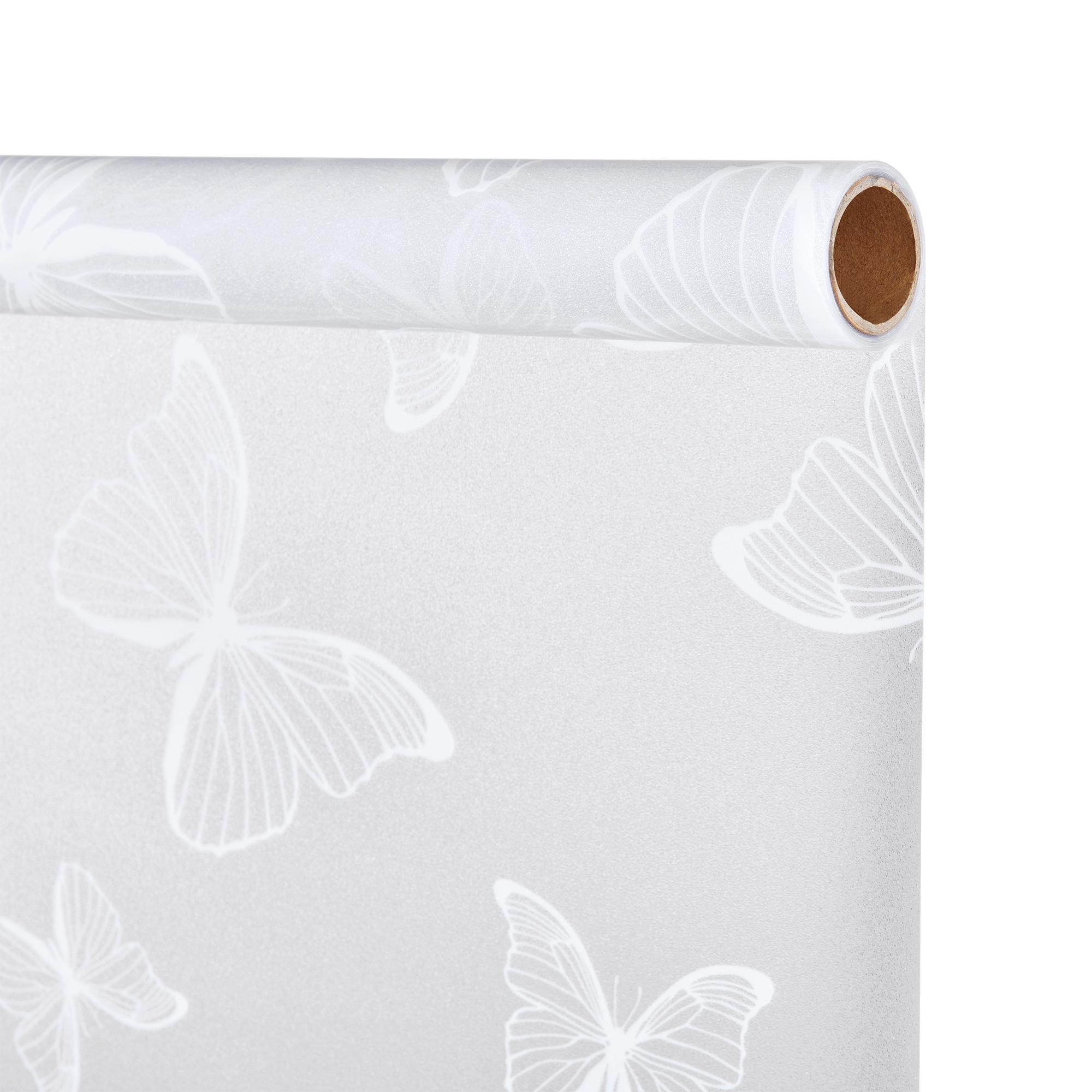 casao] Sichtschutzfolie Milchglas Schmetterling 50 cm x 1 m