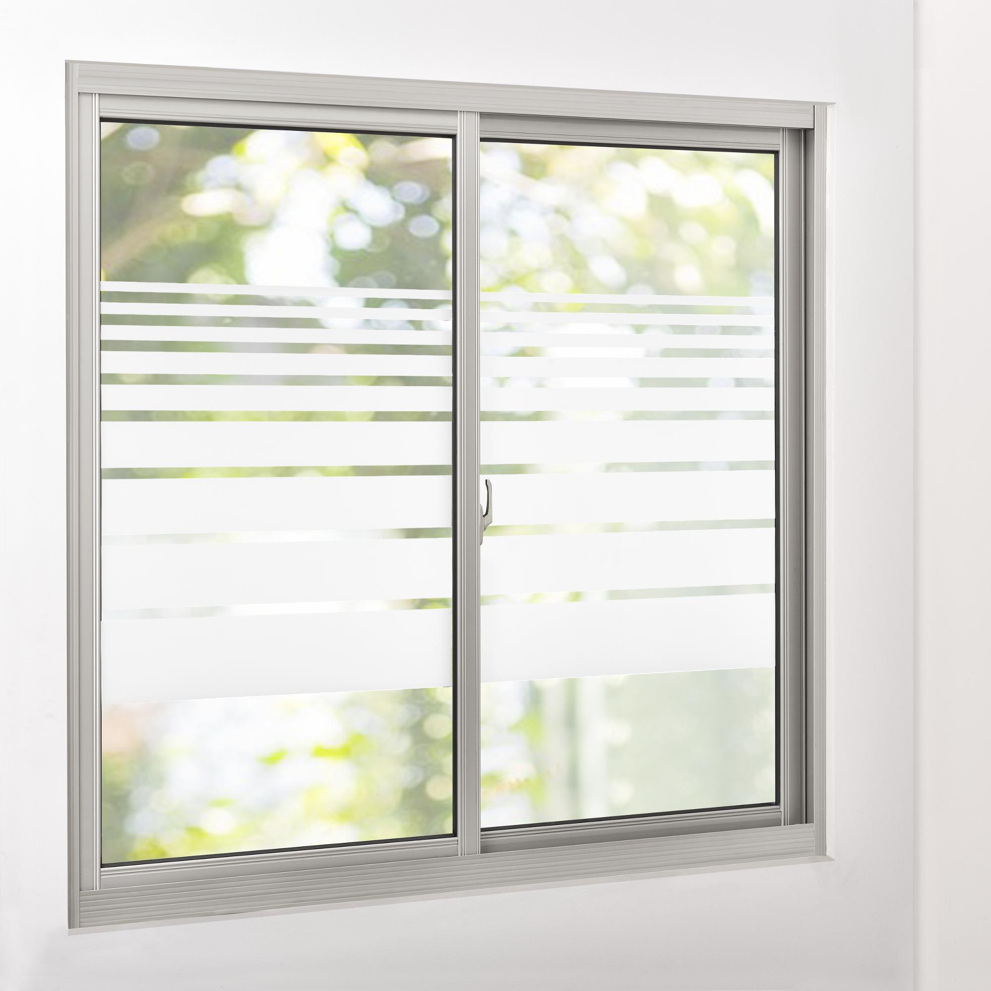 Sichtschutzfolie milchglas linien 67 5 cm x for Fensterfolie statisch