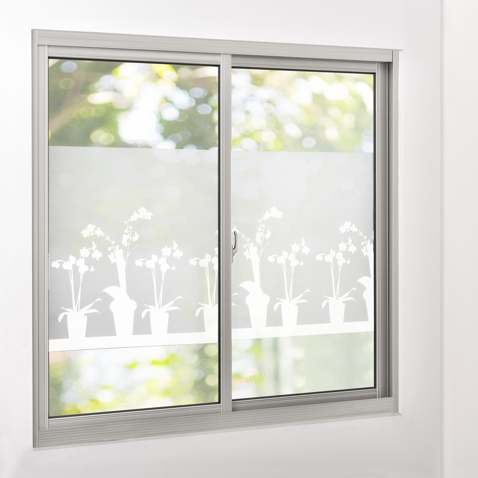 sichtschutzfolie milchglas blumen 67 5 cm x 1 m statisch fenster ebay. Black Bedroom Furniture Sets. Home Design Ideas