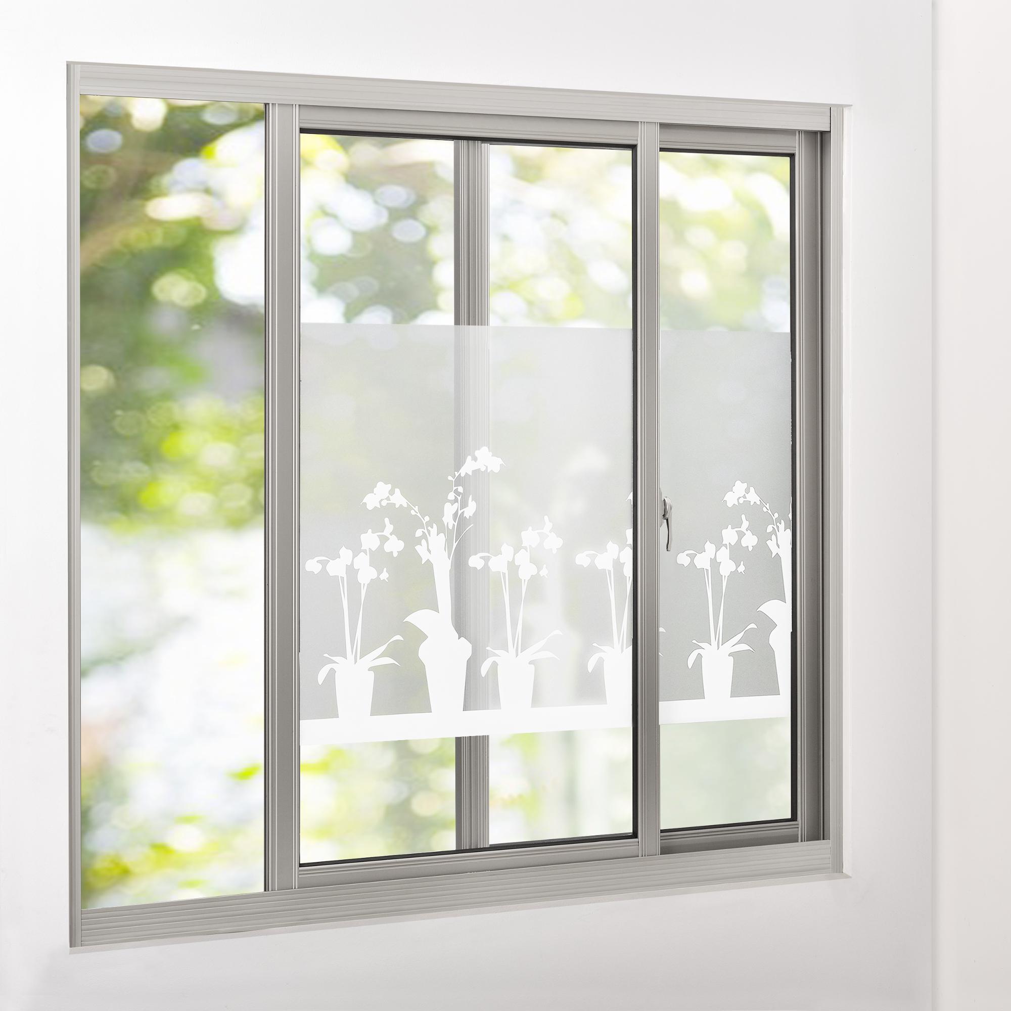 sichtschutzfolie milchglas blumen 67 5 cm x. Black Bedroom Furniture Sets. Home Design Ideas