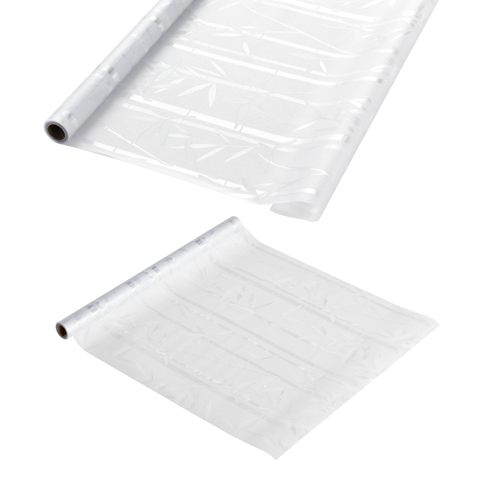 [casa.pro]® Privátní fólie na sklo - statická - 1x50m - bambusový motiv