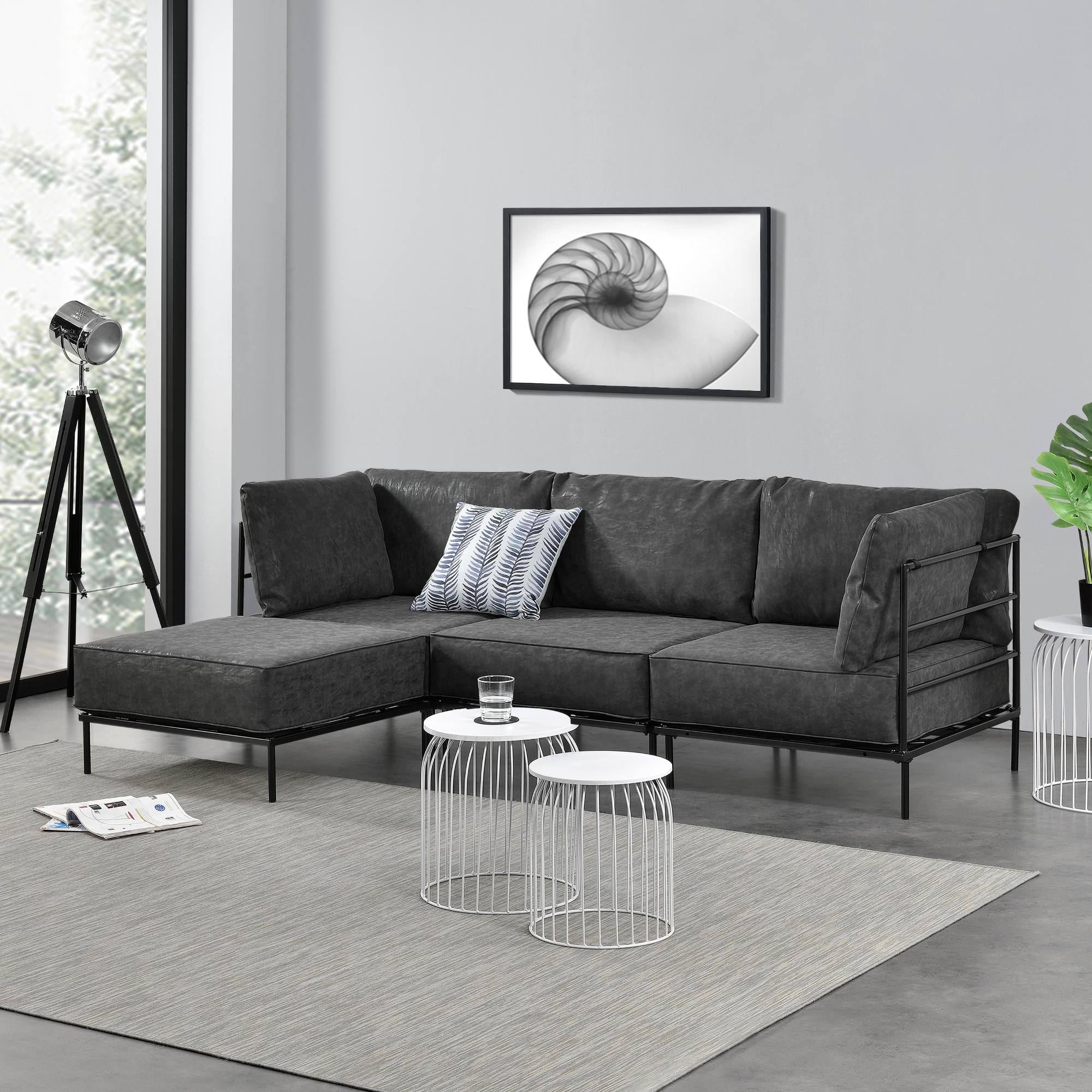 ecksofa sofa couch eckcouch polstergarnitur wohnlandschaft 3 sitzer ebay. Black Bedroom Furniture Sets. Home Design Ideas
