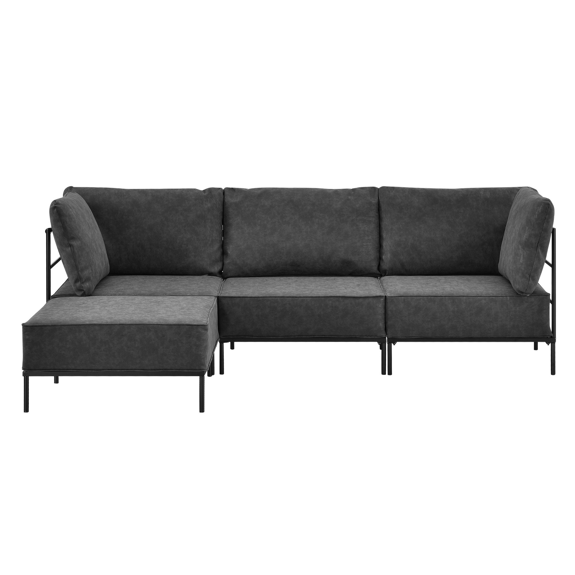 Ecksofa sofa couch eckcouch polstergarnitur for Wohnlandschaft 1301