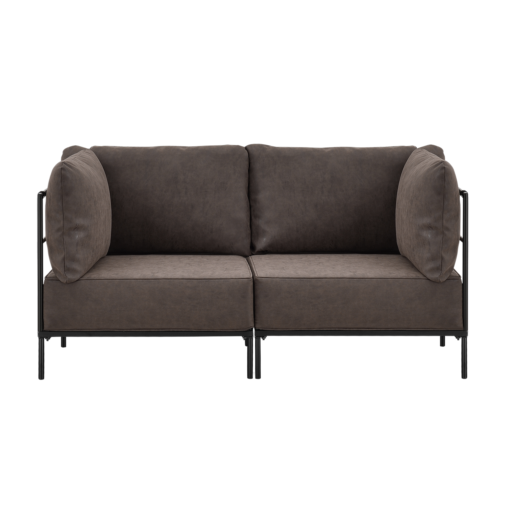 sofa couch chair sofa interior design 3 2 1 set brown 4059438112300 ebay. Black Bedroom Furniture Sets. Home Design Ideas
