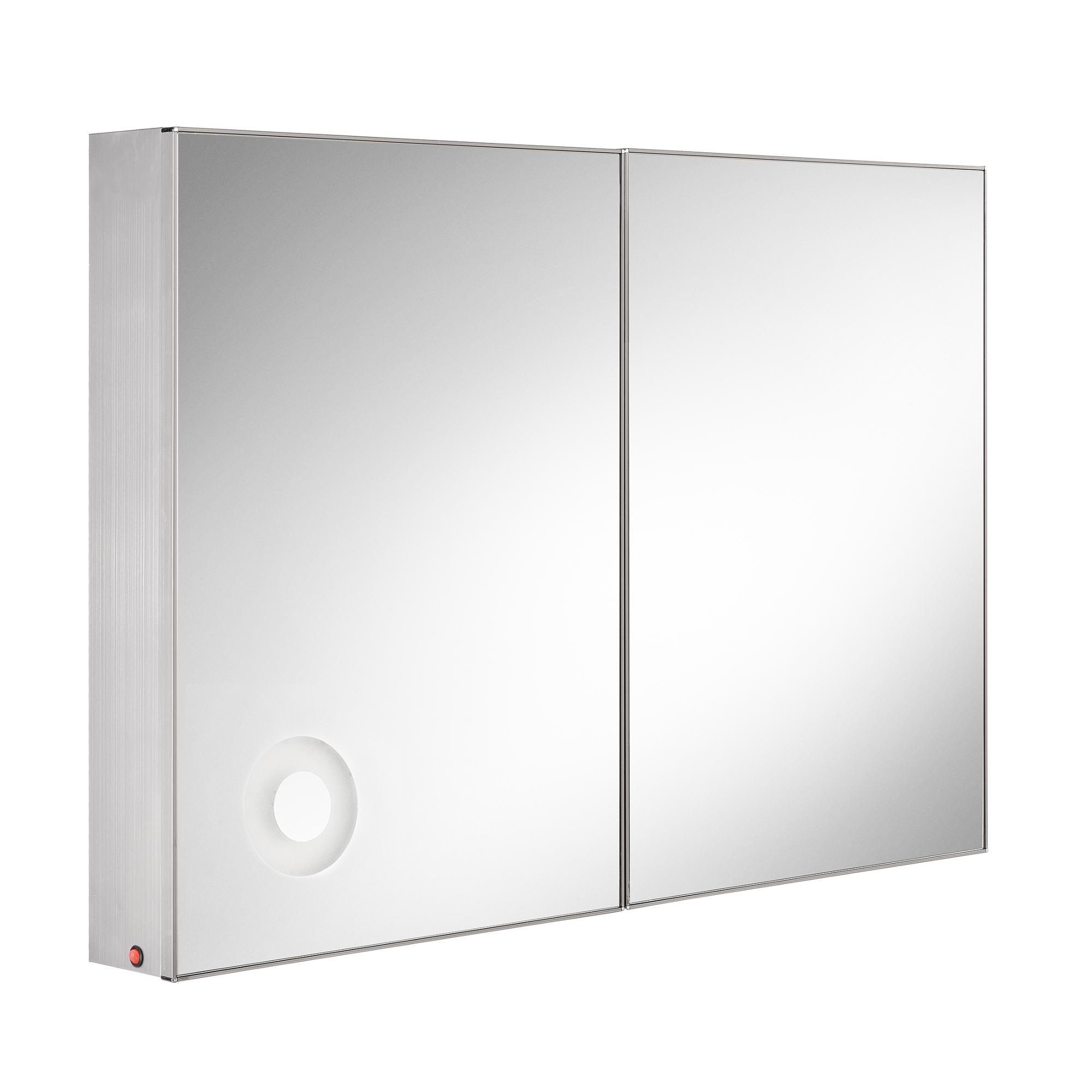 Led badezimmerspiegel wandspiegel spiegel for Schrank rund