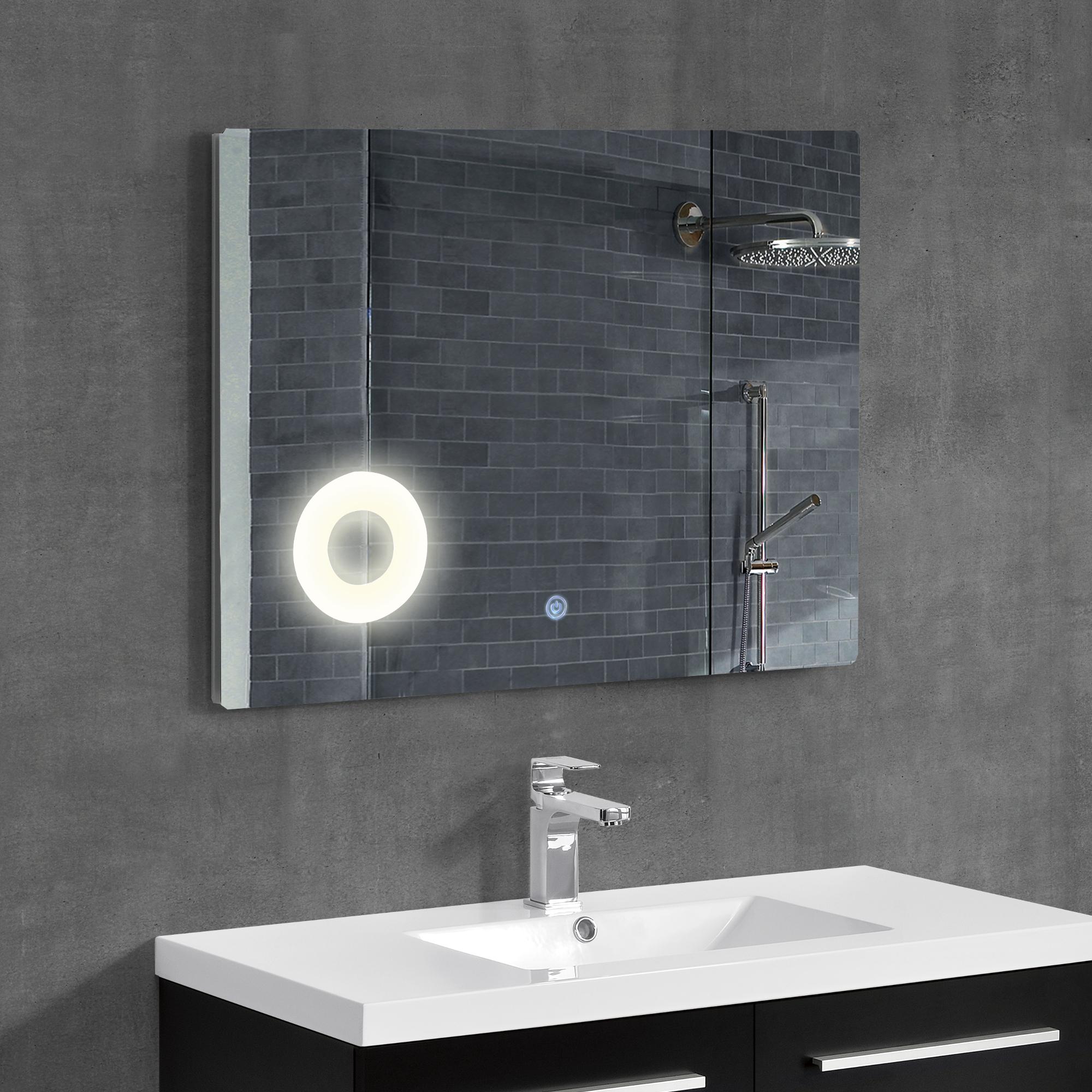 led badezimmerspiegel wandspiegel spiegel kosmetikspiegel 50 x 70 cm ebay. Black Bedroom Furniture Sets. Home Design Ideas