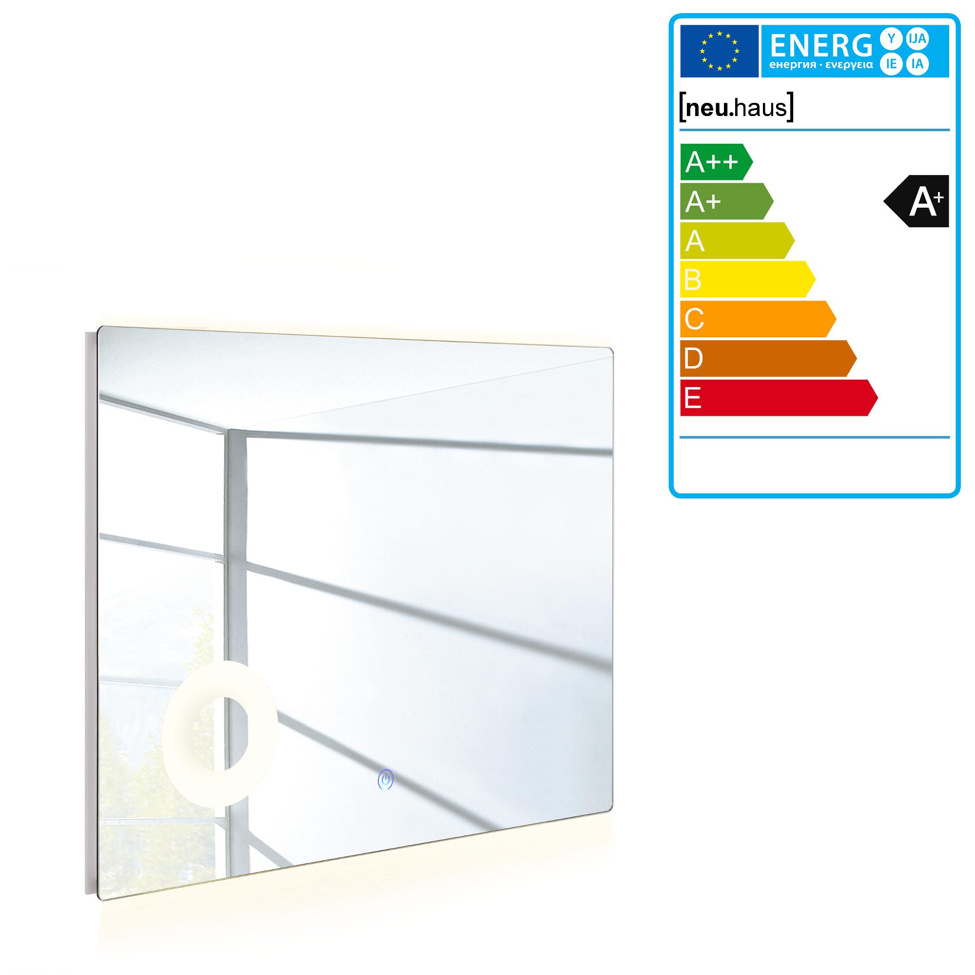 Led badezimmerspiegel wandspiegel spiegel kosmetikspiegel 50 x 70 cm ebay - Badspiegel 50 x 70 ...