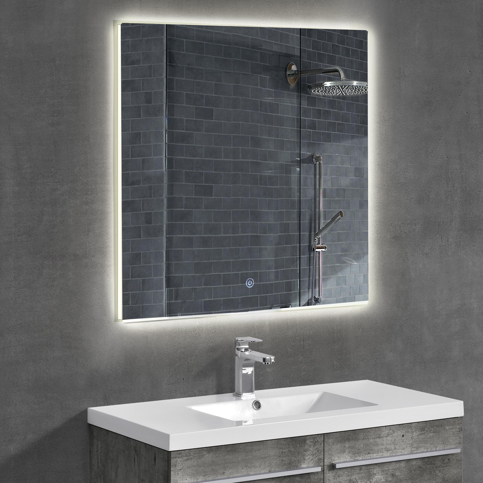 Led badezimmerspiegel wandspiegel spiegel for Espejos para bano con luz y repisa