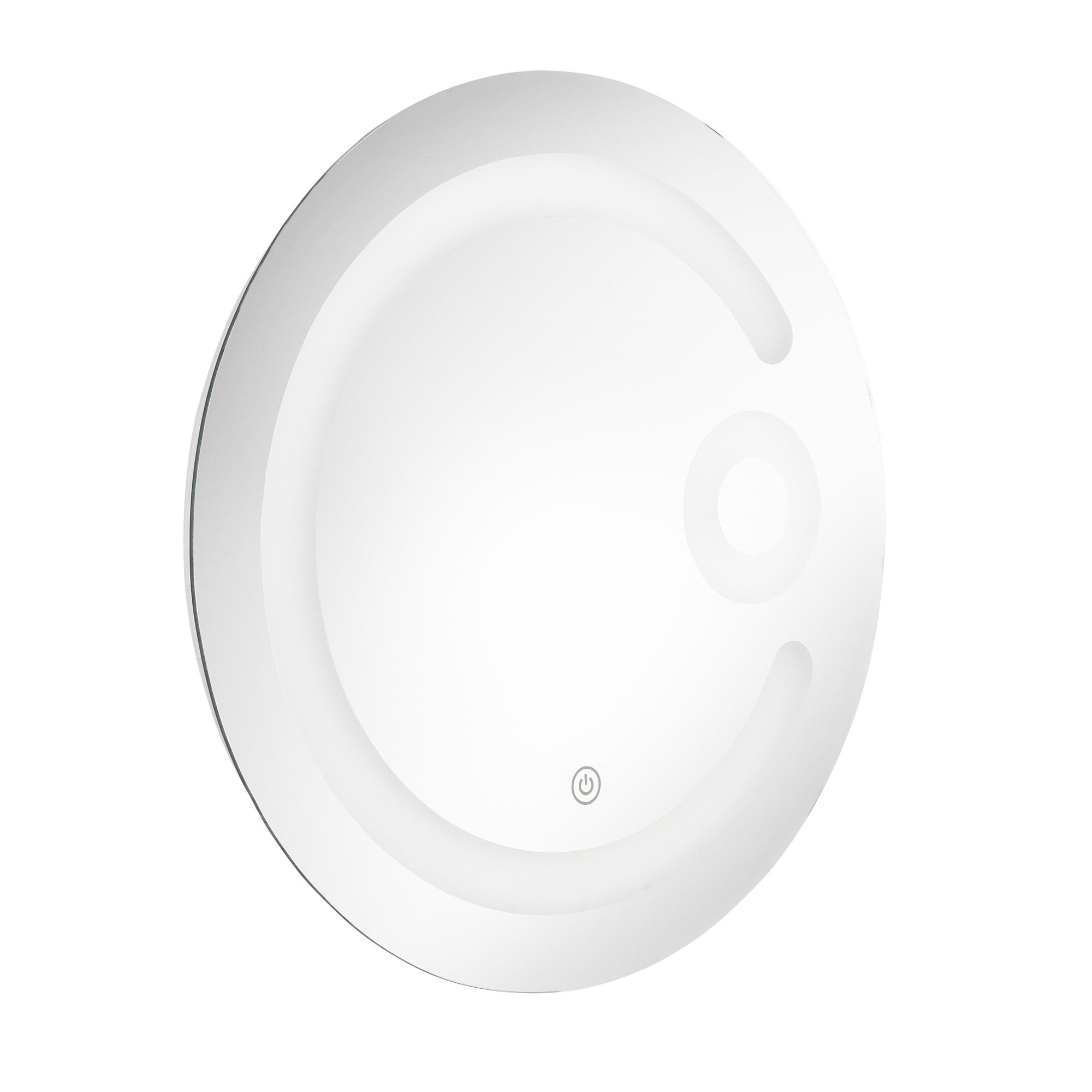 led badezimmerspiegel wandspiegel spiegel kosmetikspiegel rund 60 cm ebay. Black Bedroom Furniture Sets. Home Design Ideas