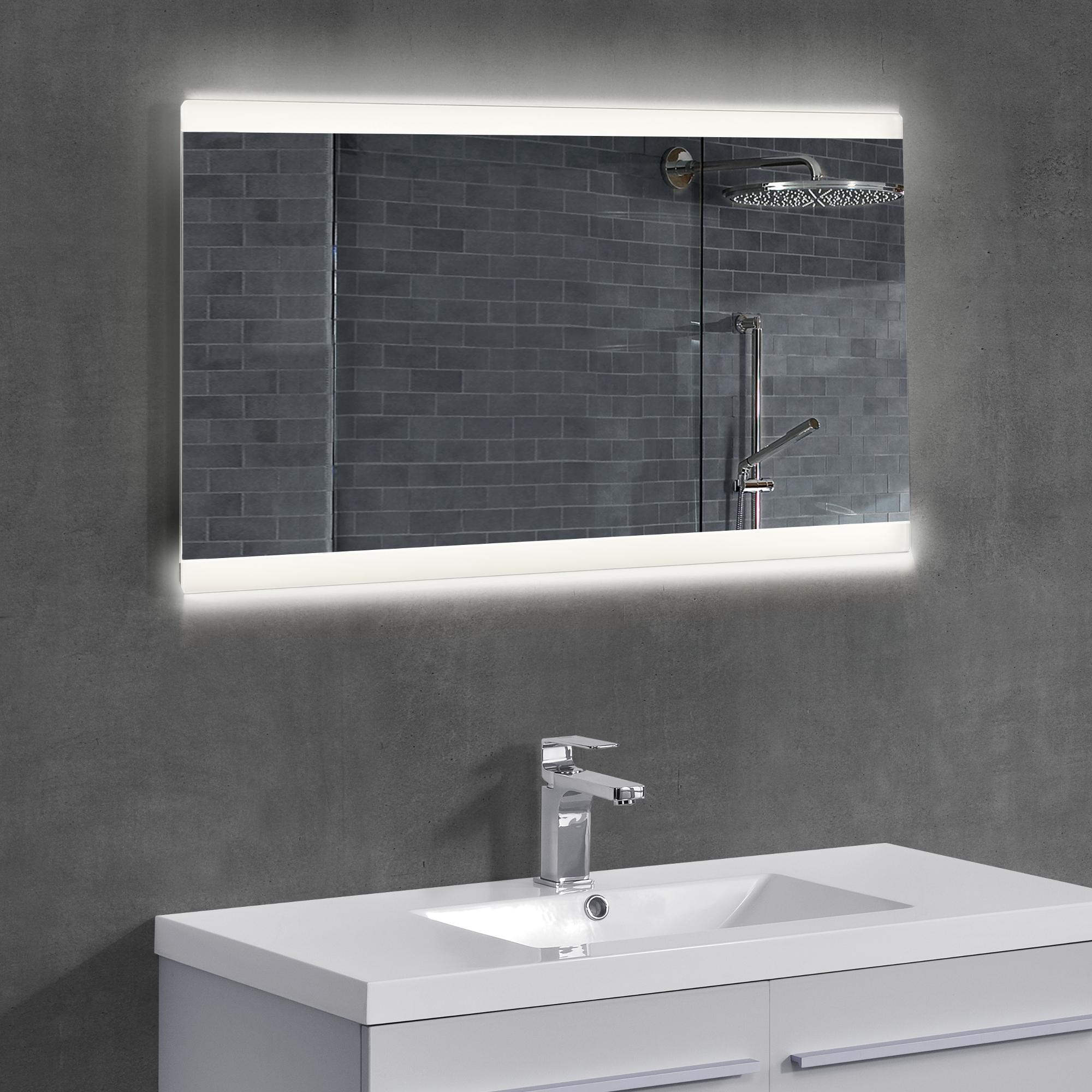 Specchio per bagno led murale specchio a muro - Specchio x bagno ...