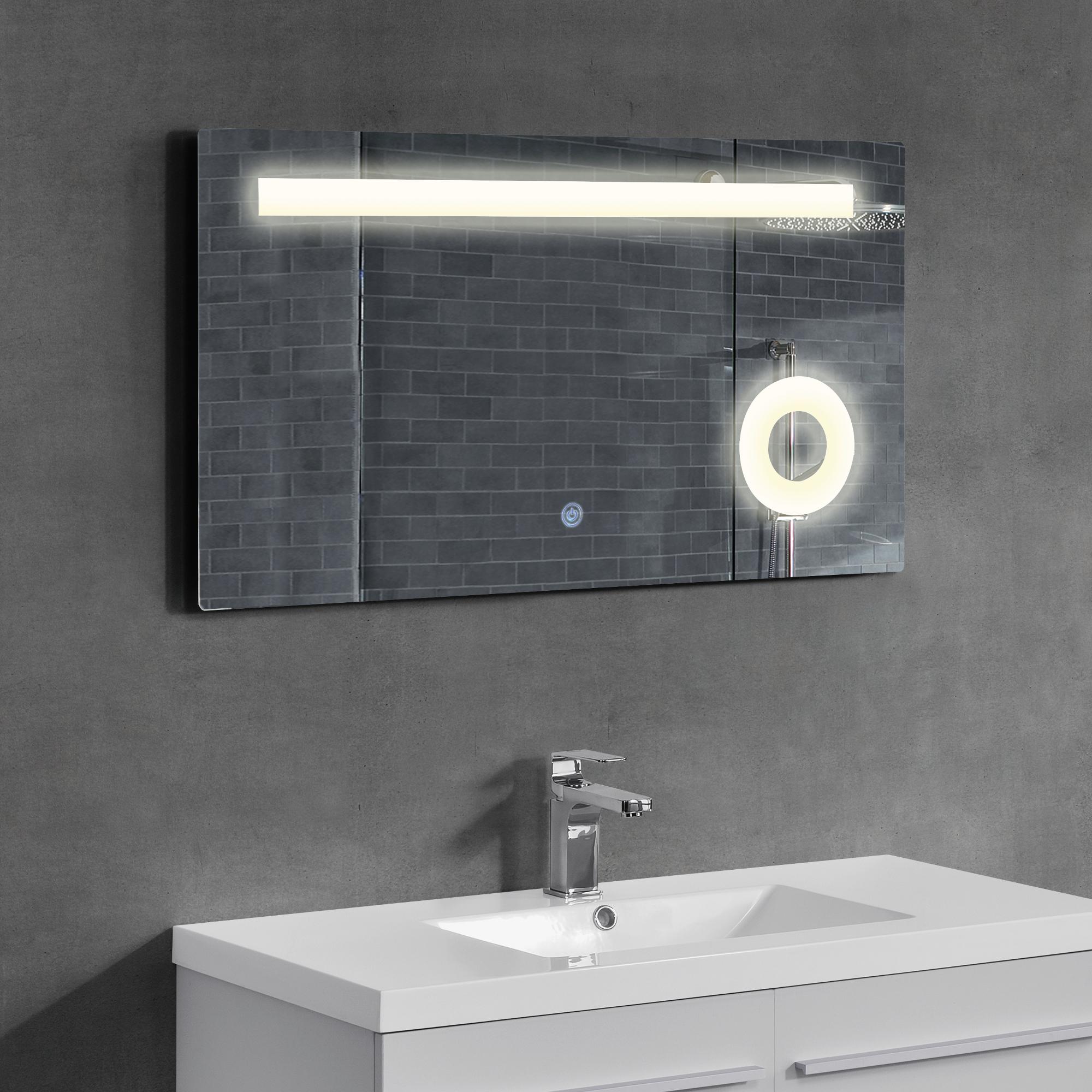 Neuhaus led miroir de la salle bain mural cosm tique 60 for Force de miroir ebay