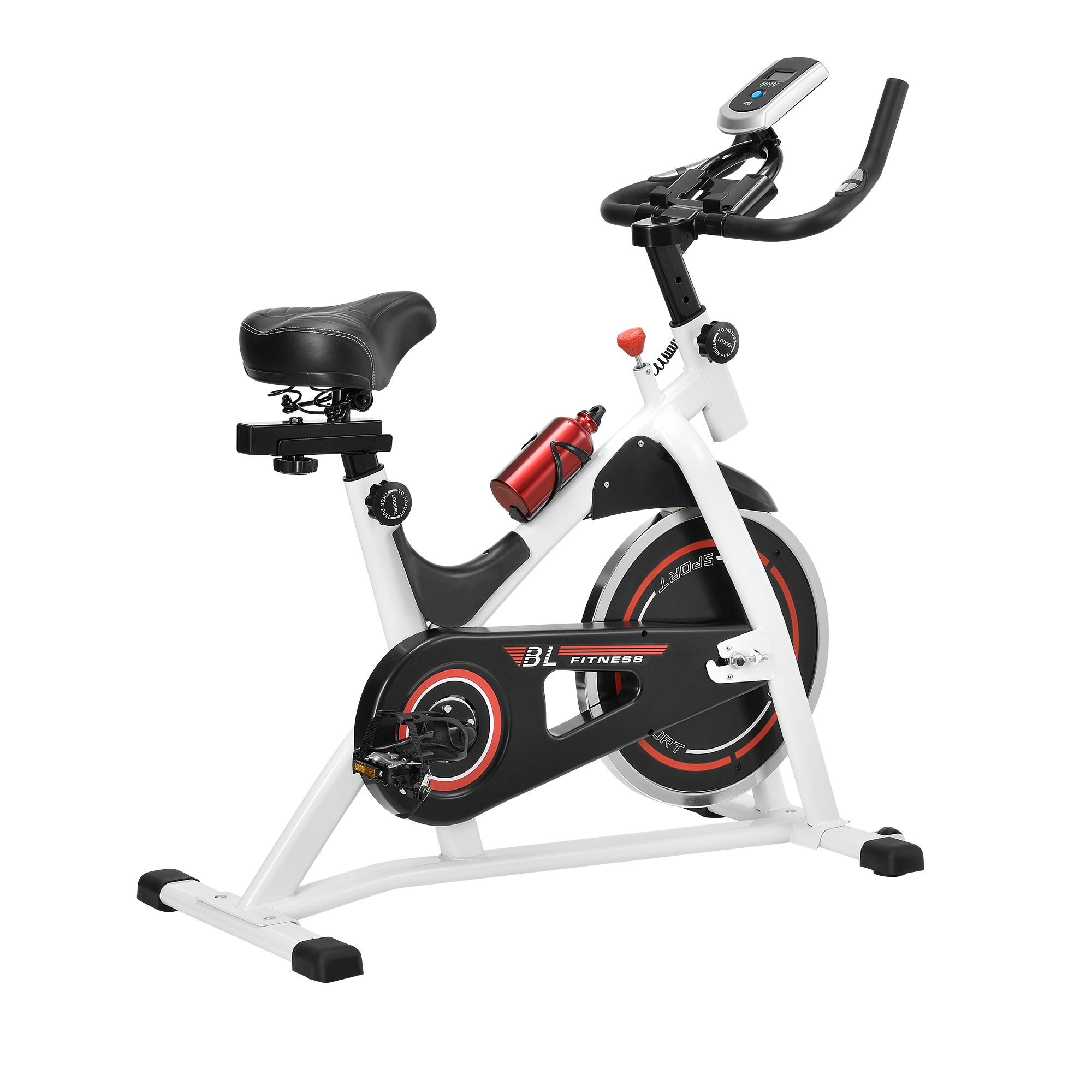 heimtrainer fahrrad fitness bike trimmrad indoor cycling rad sattel ebay. Black Bedroom Furniture Sets. Home Design Ideas