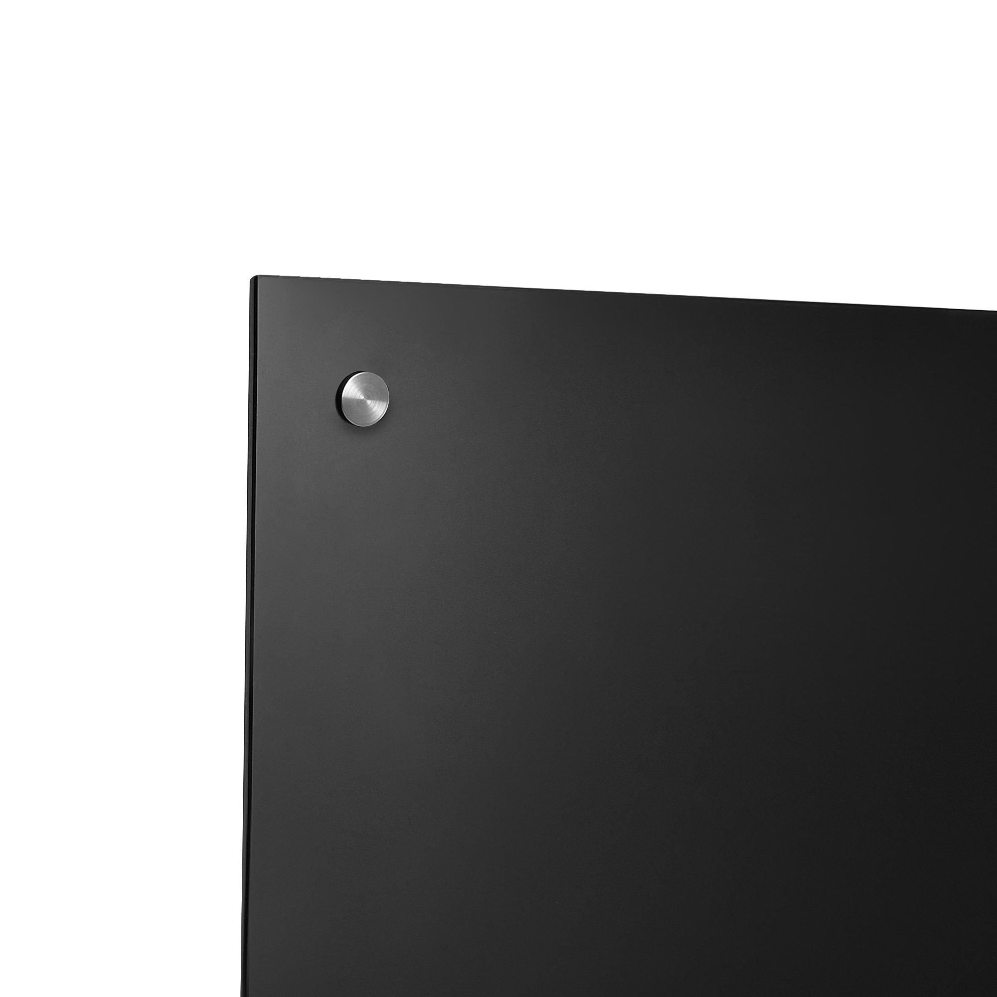 glas k chenr ckwand 90x40cm schwarz herdspritzschutz herd k che ebay. Black Bedroom Furniture Sets. Home Design Ideas