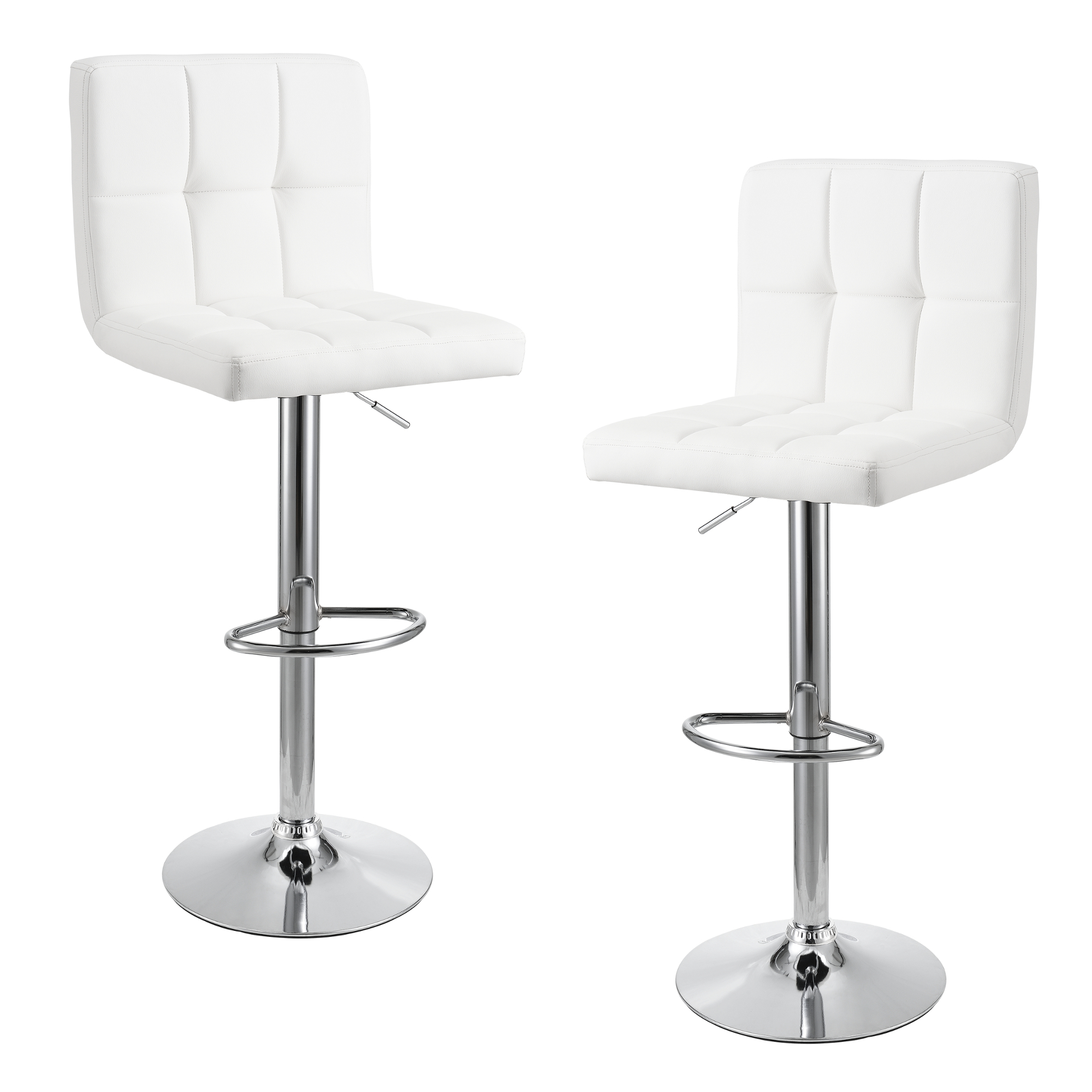 tabouret de bar blanc ensemble deux comptoir chaise ebay. Black Bedroom Furniture Sets. Home Design Ideas