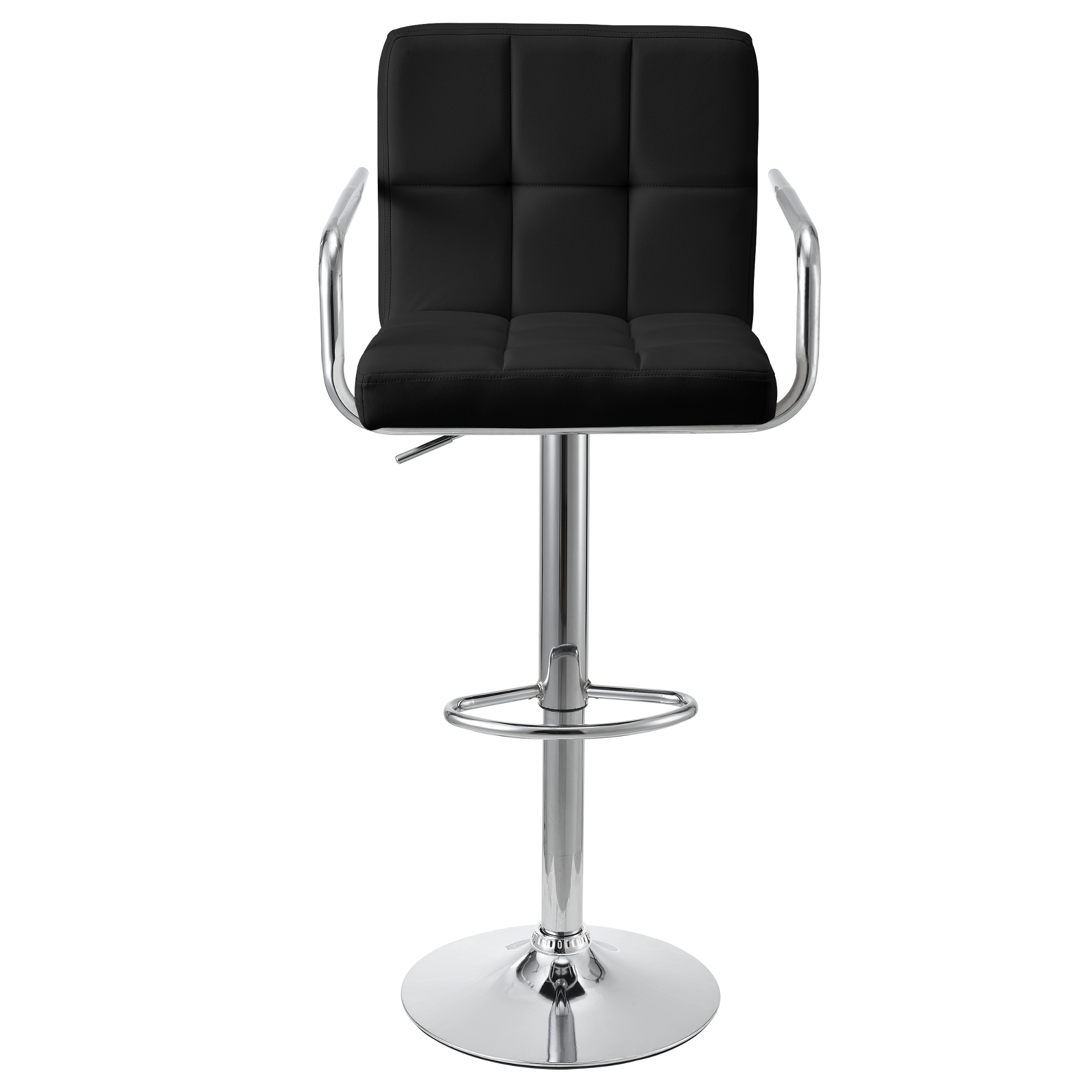 tabouret de bar noir 2er set avec dossier comptoir ebay. Black Bedroom Furniture Sets. Home Design Ideas