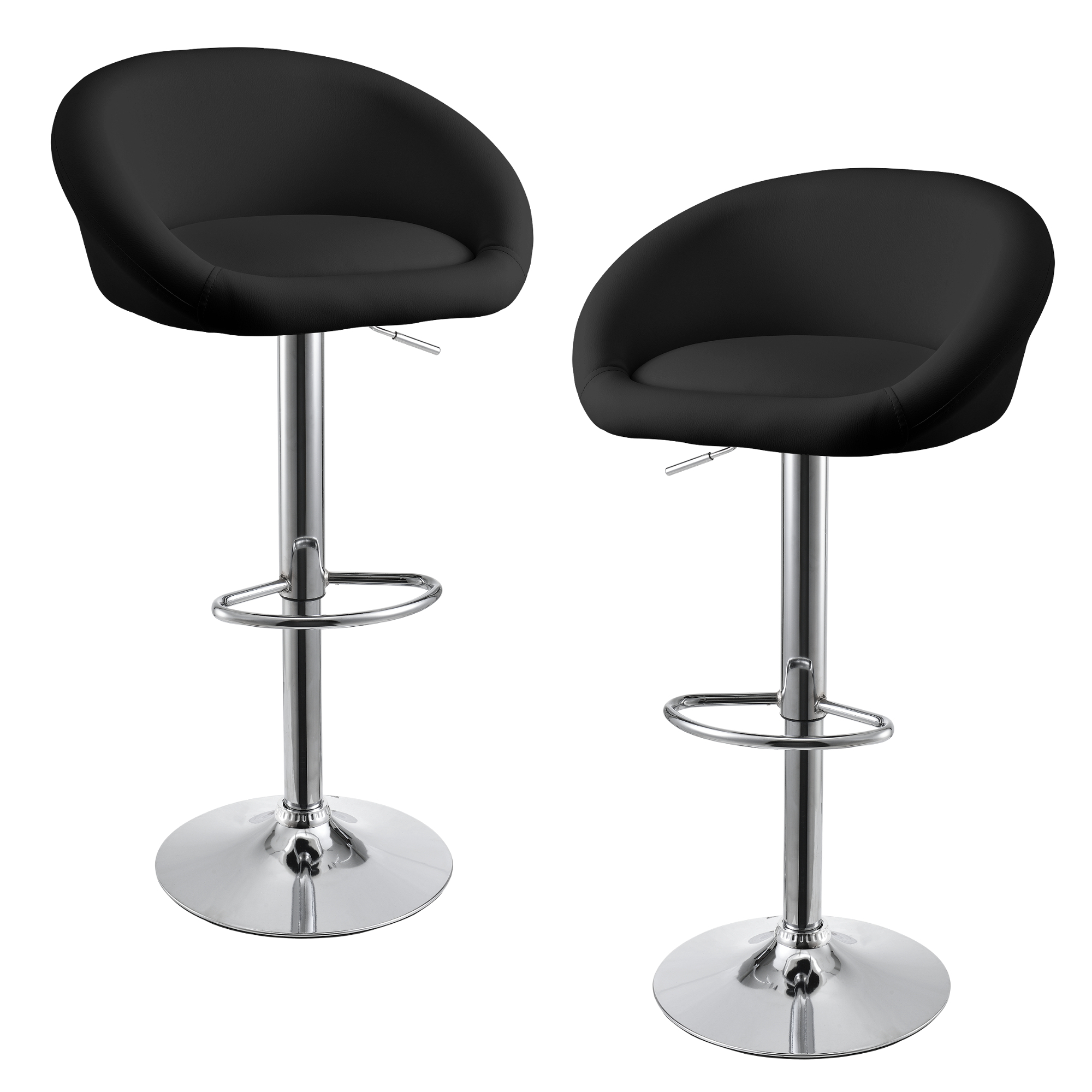 tabouret de bar noir kit de 2 bar tabouret comptoir ebay. Black Bedroom Furniture Sets. Home Design Ideas