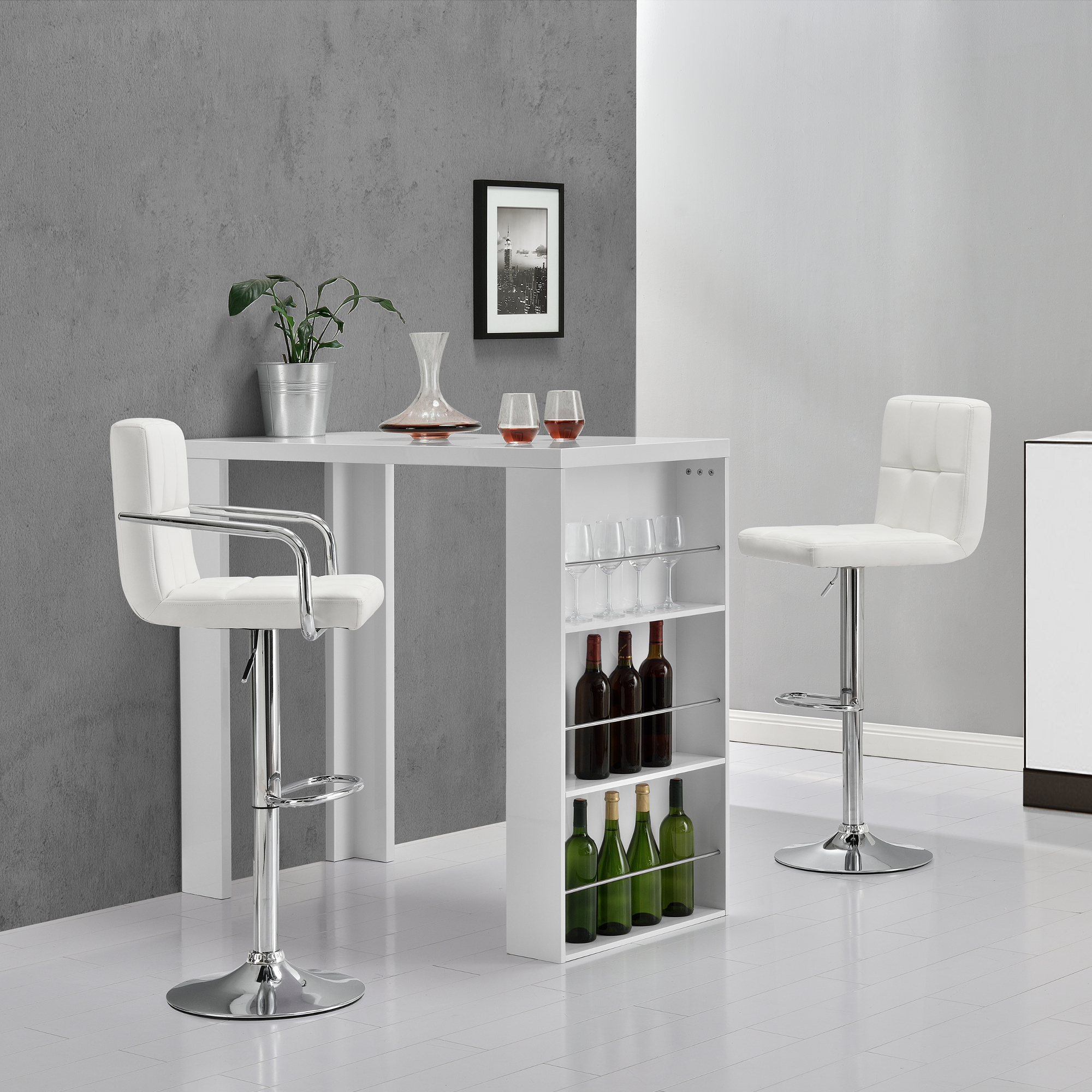 Barhocker 2er set rund tresenhocker barstuhl bar - Cocina para bar ...