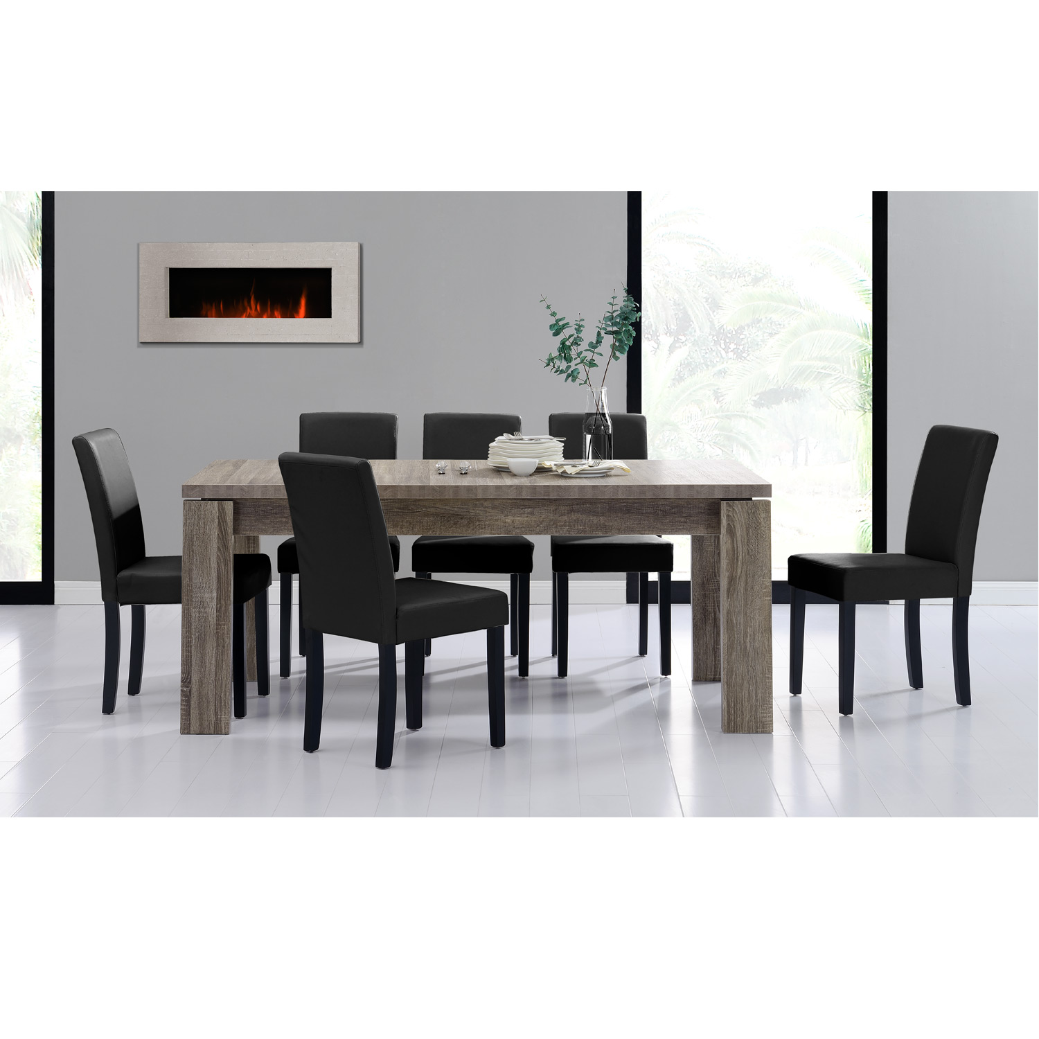 esstisch helsinki 170x79 esszimmertisch eiche wei wohnzimmer tisch ebay. Black Bedroom Furniture Sets. Home Design Ideas