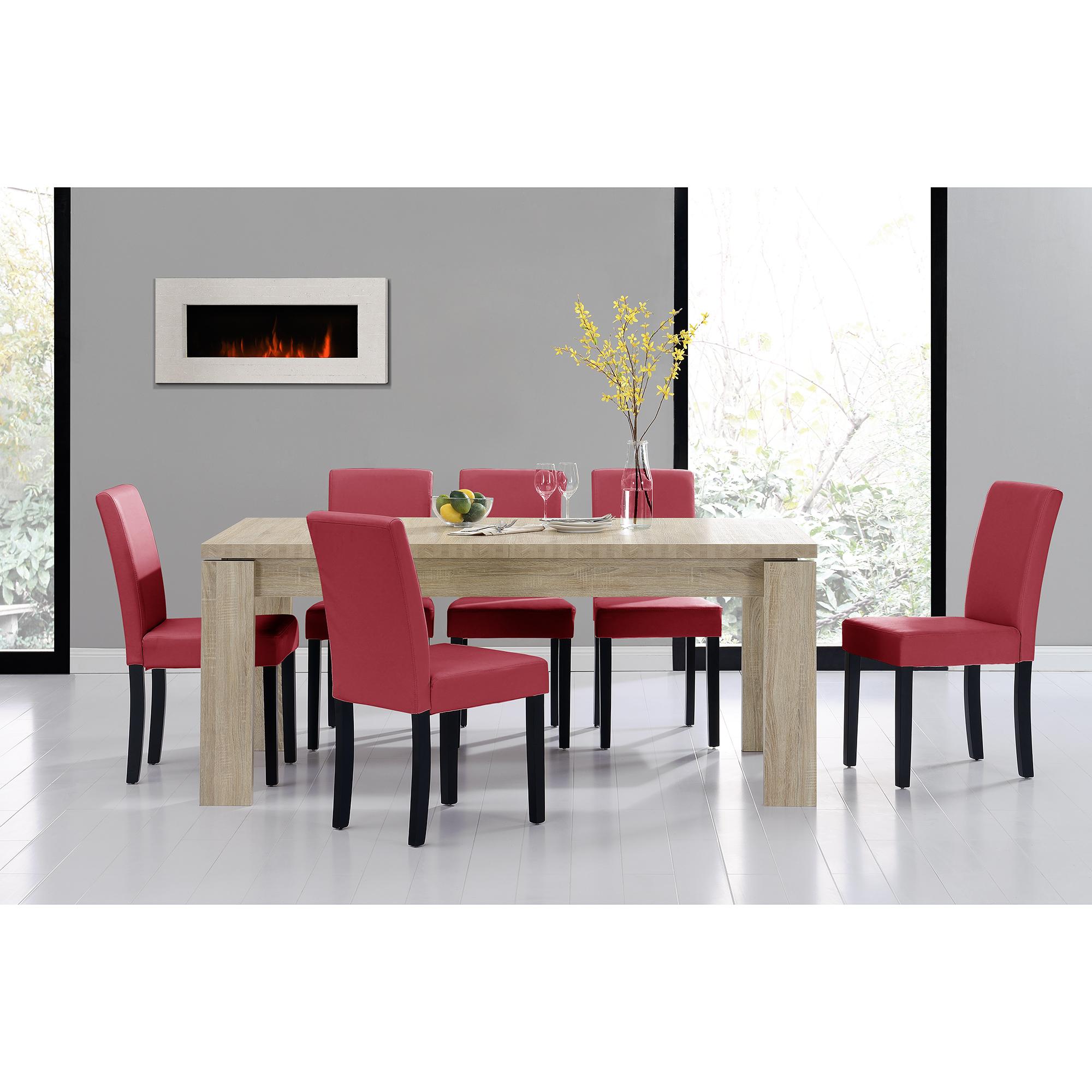 [en.casa]® Jídelní sestava 1 x stůl HTFU2335 + 6 x židle HTMY-9702