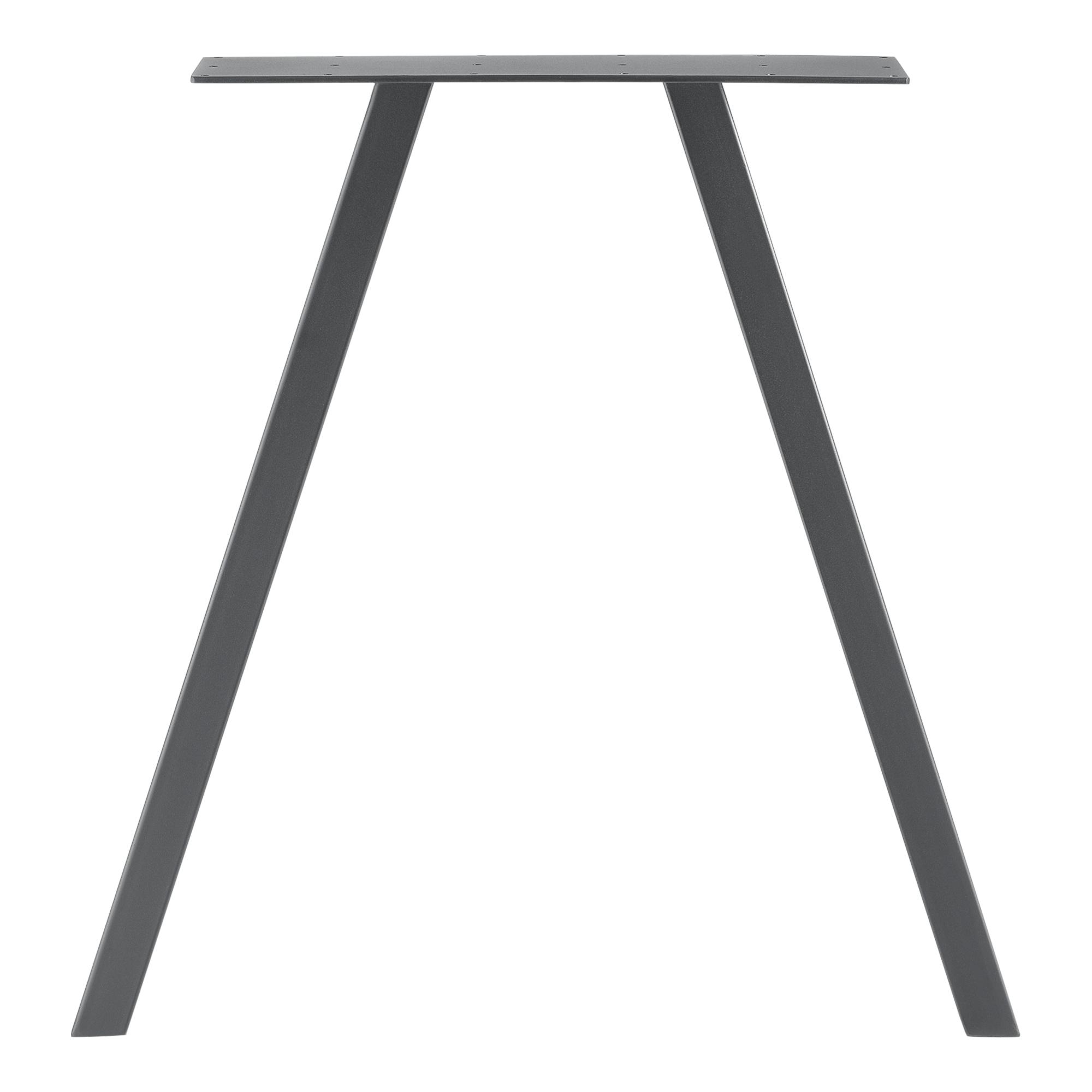 2x Tischgestell Gestell Tischbeine Untergestell Tischkufen 50//70x12x72cm Schwarz