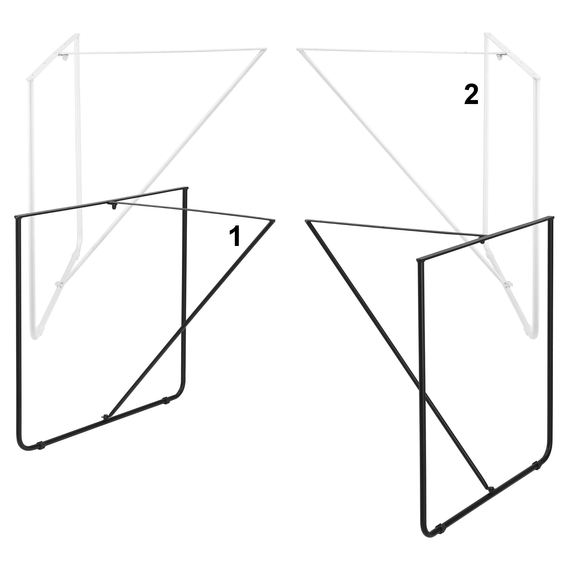 en.casa 2x Tischgestell Tischuntergestell Tischkufen Tischbein 80x73cm Schwarz