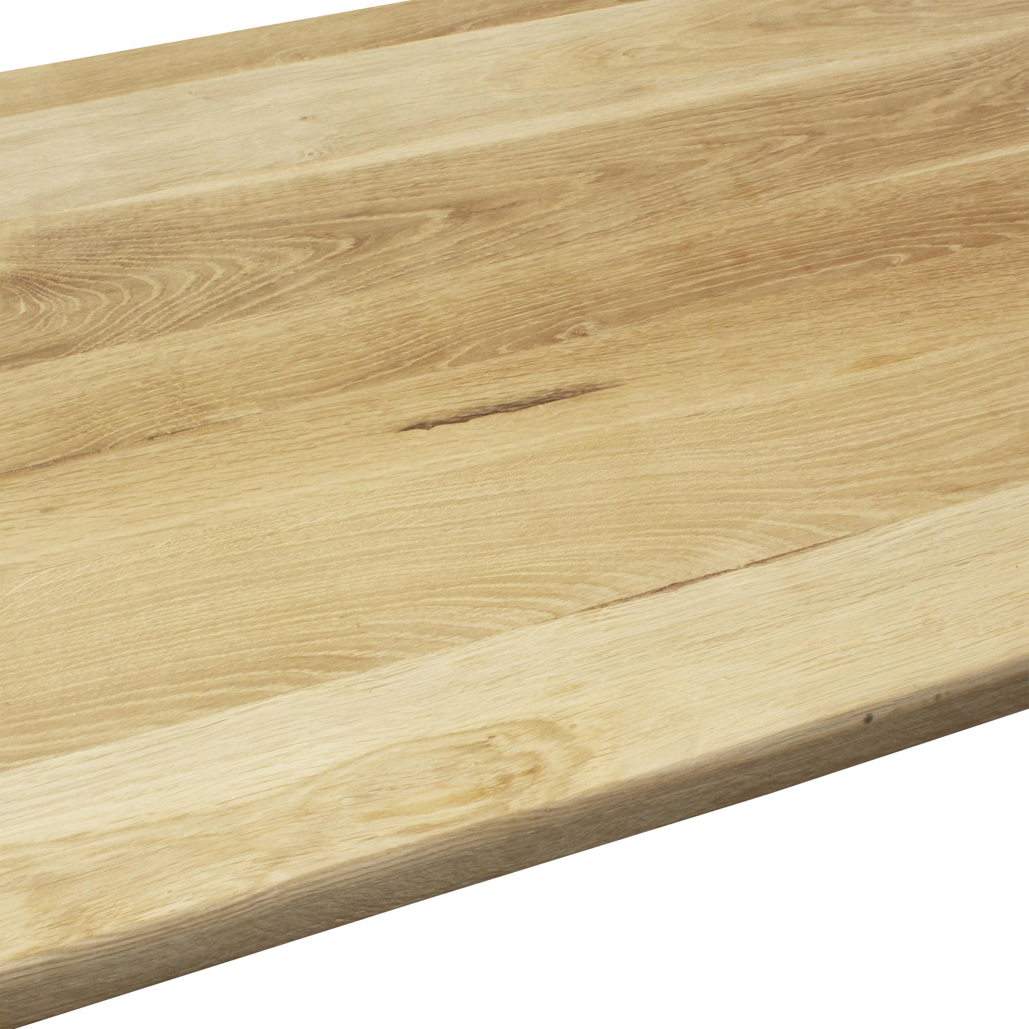 tischplatte eichenholz massivholzplatte eiche massiv holz diy 140x80cm ebay. Black Bedroom Furniture Sets. Home Design Ideas