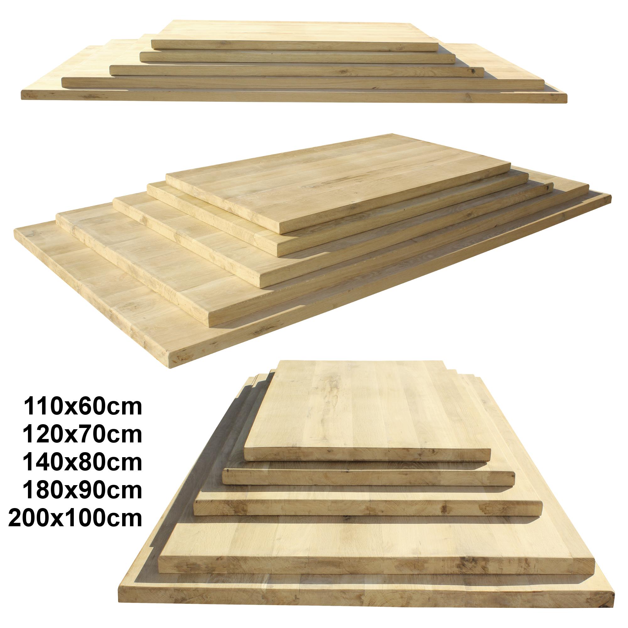 plateau de table ch ne plaque bois solide massif bricolage manger ebay. Black Bedroom Furniture Sets. Home Design Ideas