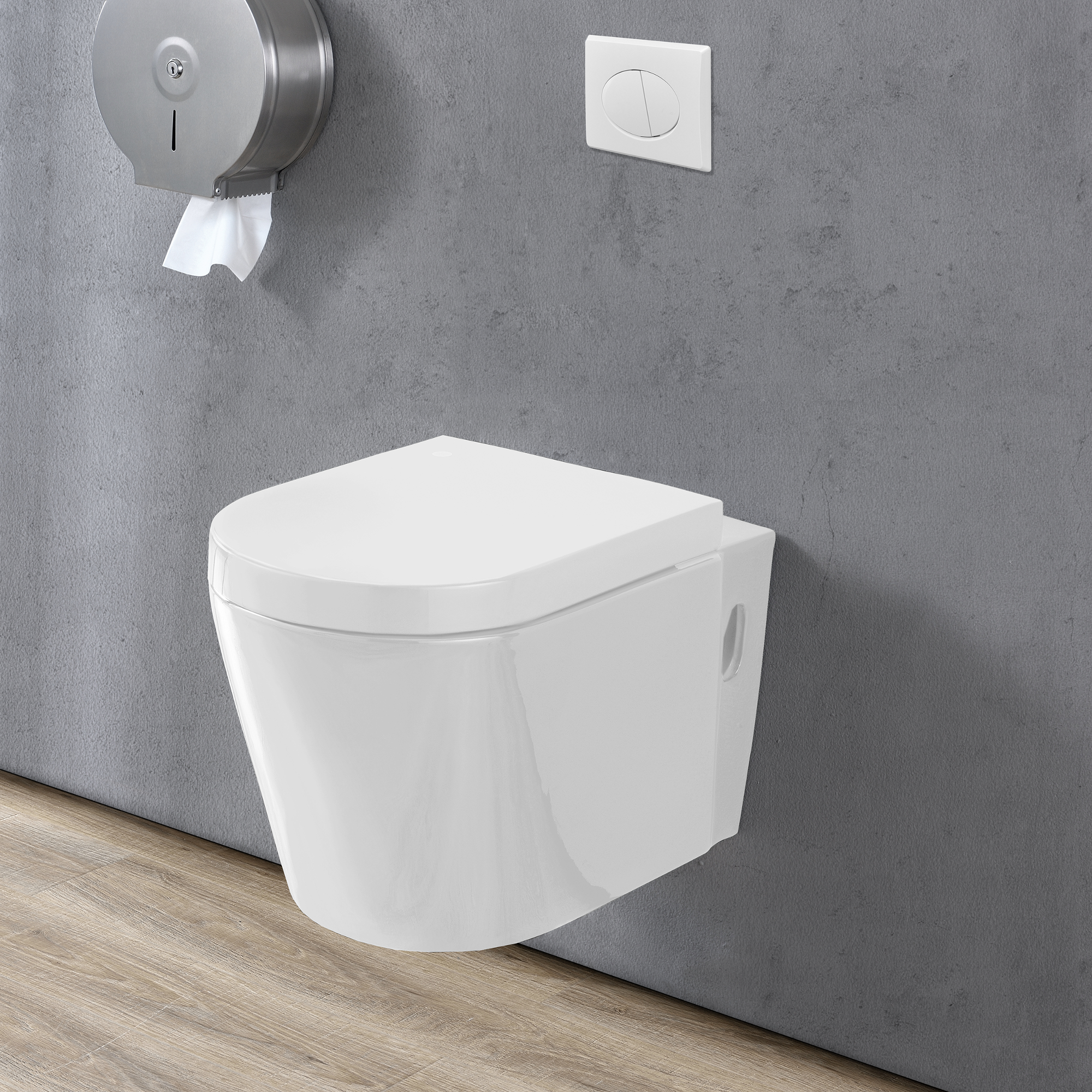 house ceramic wall hanging toilet soft closing mechanism white washdown model ebay. Black Bedroom Furniture Sets. Home Design Ideas