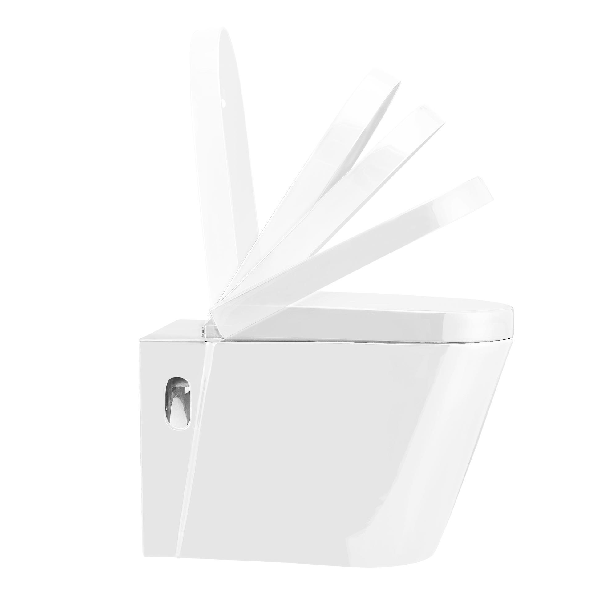keramik wand h nge wc sp lkasten wei absenkautomatik toilette klo ebay. Black Bedroom Furniture Sets. Home Design Ideas