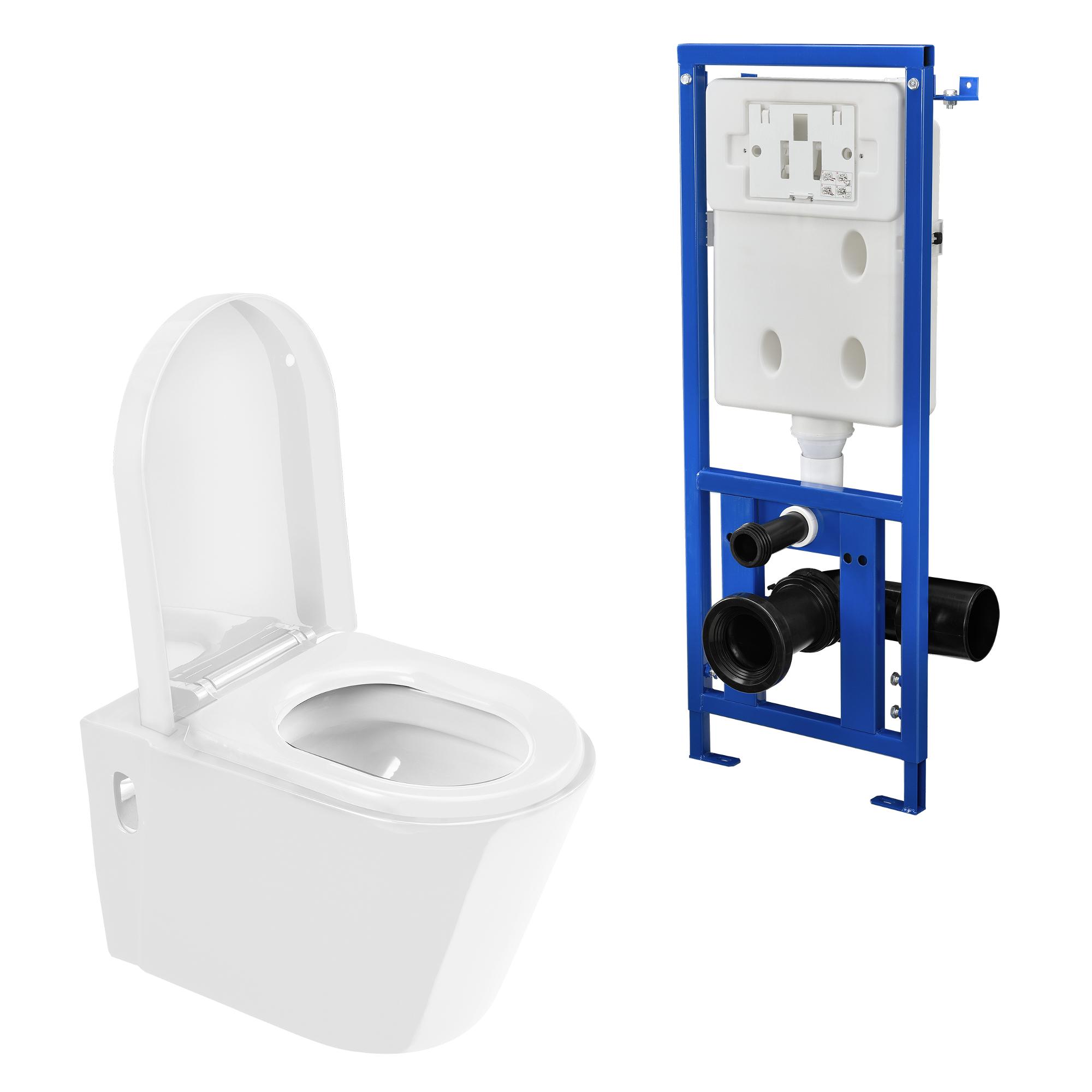 maison c ramique mur toilette suspendue citerne blanc ebay. Black Bedroom Furniture Sets. Home Design Ideas