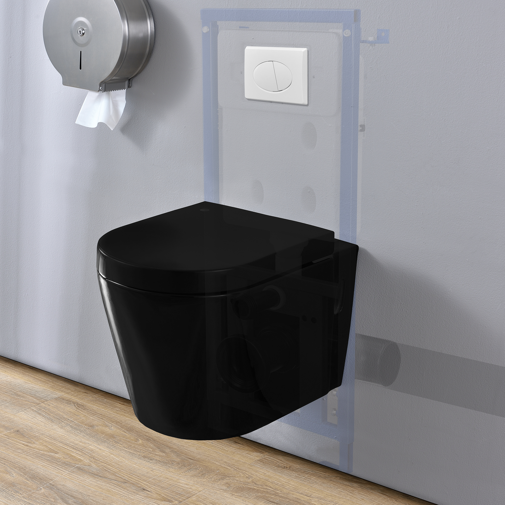 Elemento de motivo wc cisterna colgante pared - Inodoro colgante ...