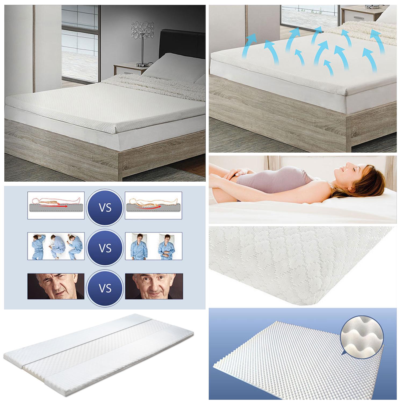 topper 90x200x5cm noppenschaum matratzen auflage orthop disch ebay. Black Bedroom Furniture Sets. Home Design Ideas