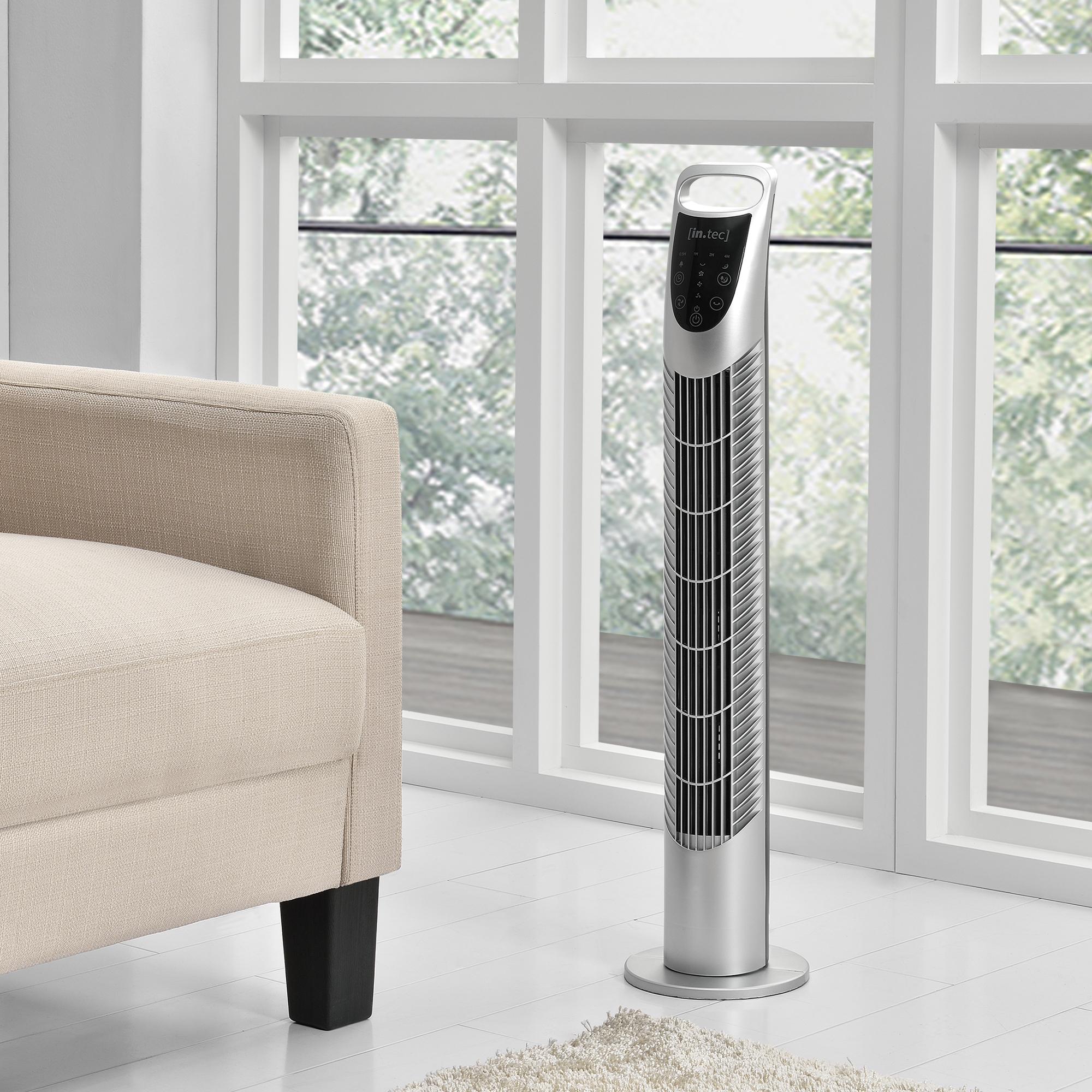 standventilator turmventilator s ulenventilator fernbedienung silber ebay. Black Bedroom Furniture Sets. Home Design Ideas