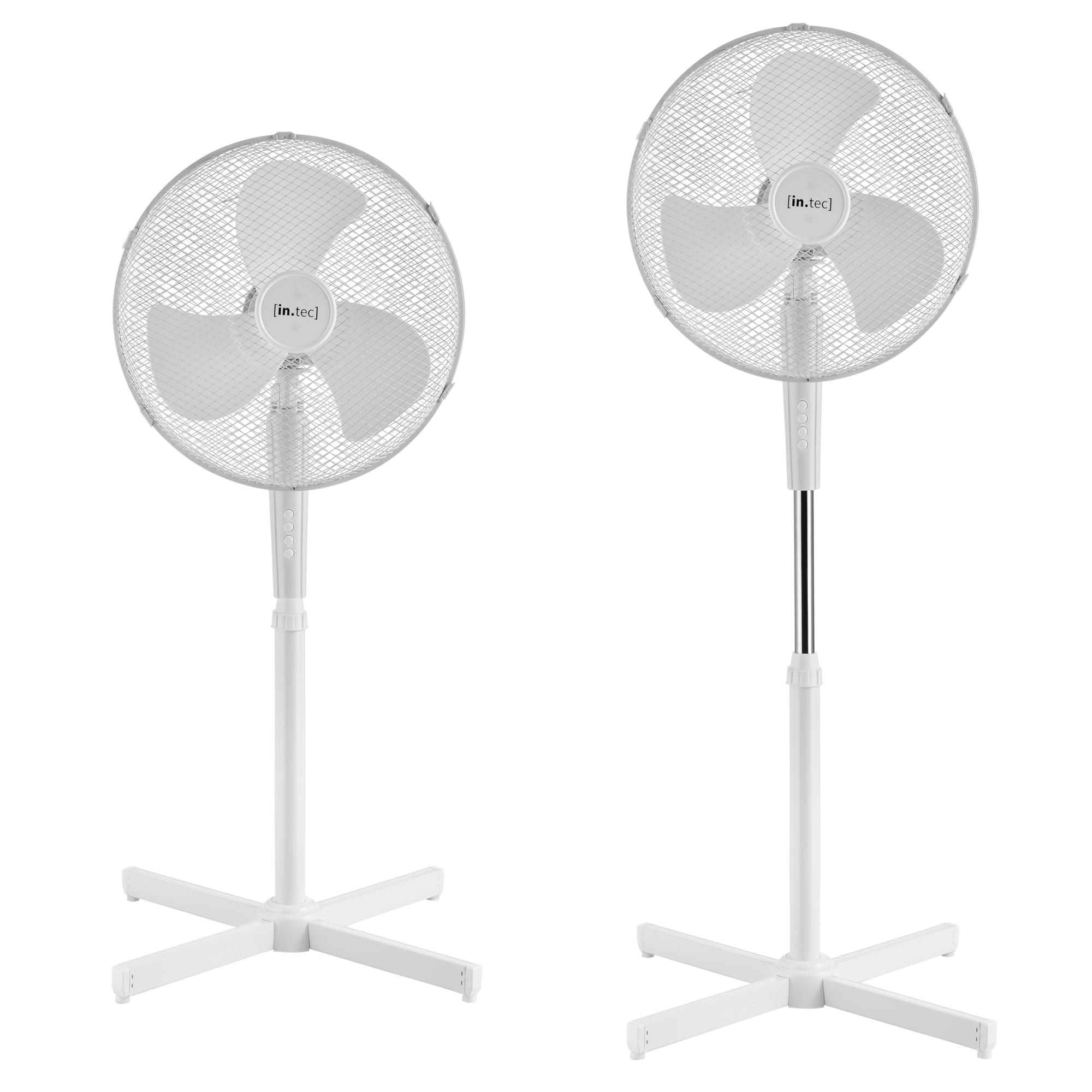 Standventilator 45W Luftkühler Ventilator Lüfter Oszillierend Weiß